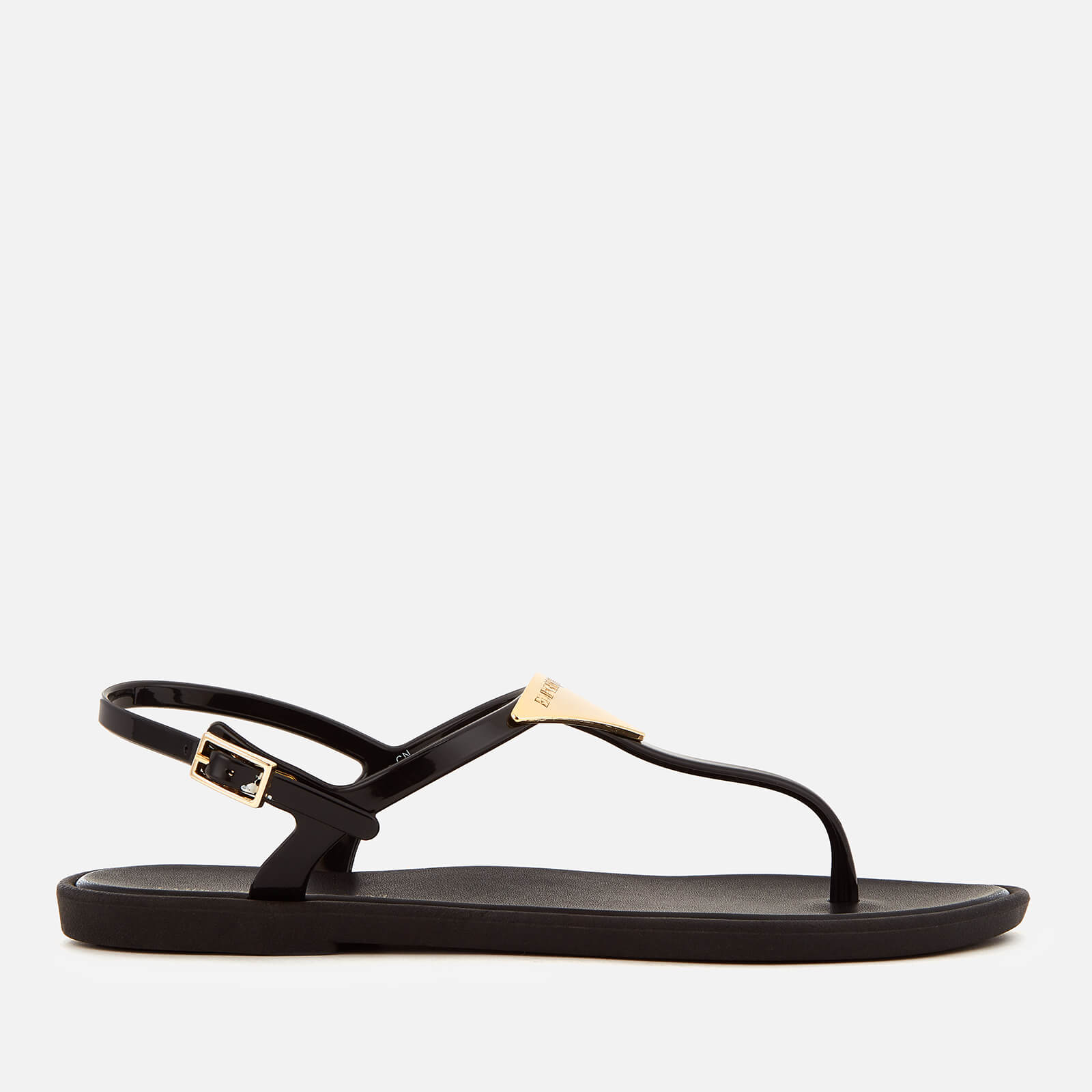 7a4628183de668 Emporio Armani Women s Coqui Soft Jelly Sandals - Black - Free UK Delivery  over £50