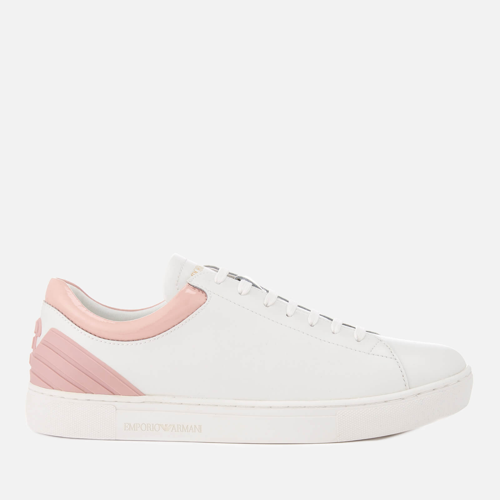 28c5a346646 Emporio Armani Women s Alana Trainers - White Nude - Free UK Delivery over  £50