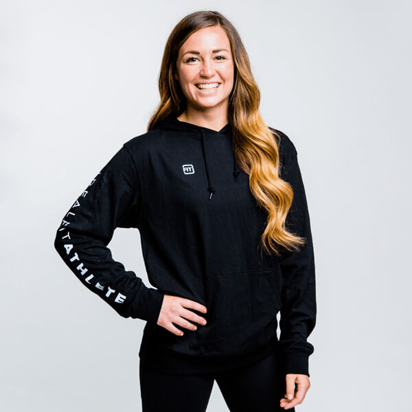 XL - IdealFit Light Weight Hoodie Black