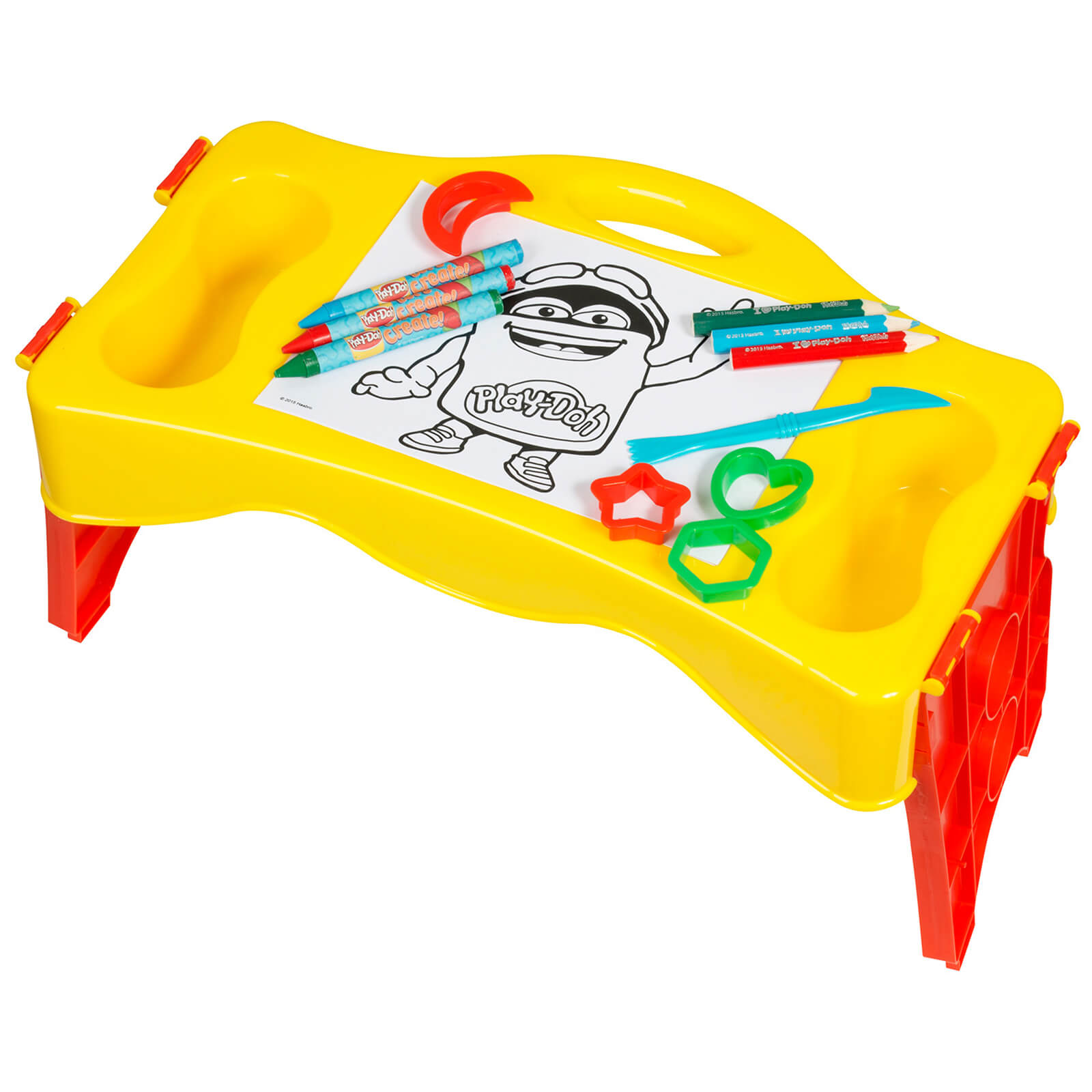 Play-Doh Fold and Go Carry Along Table