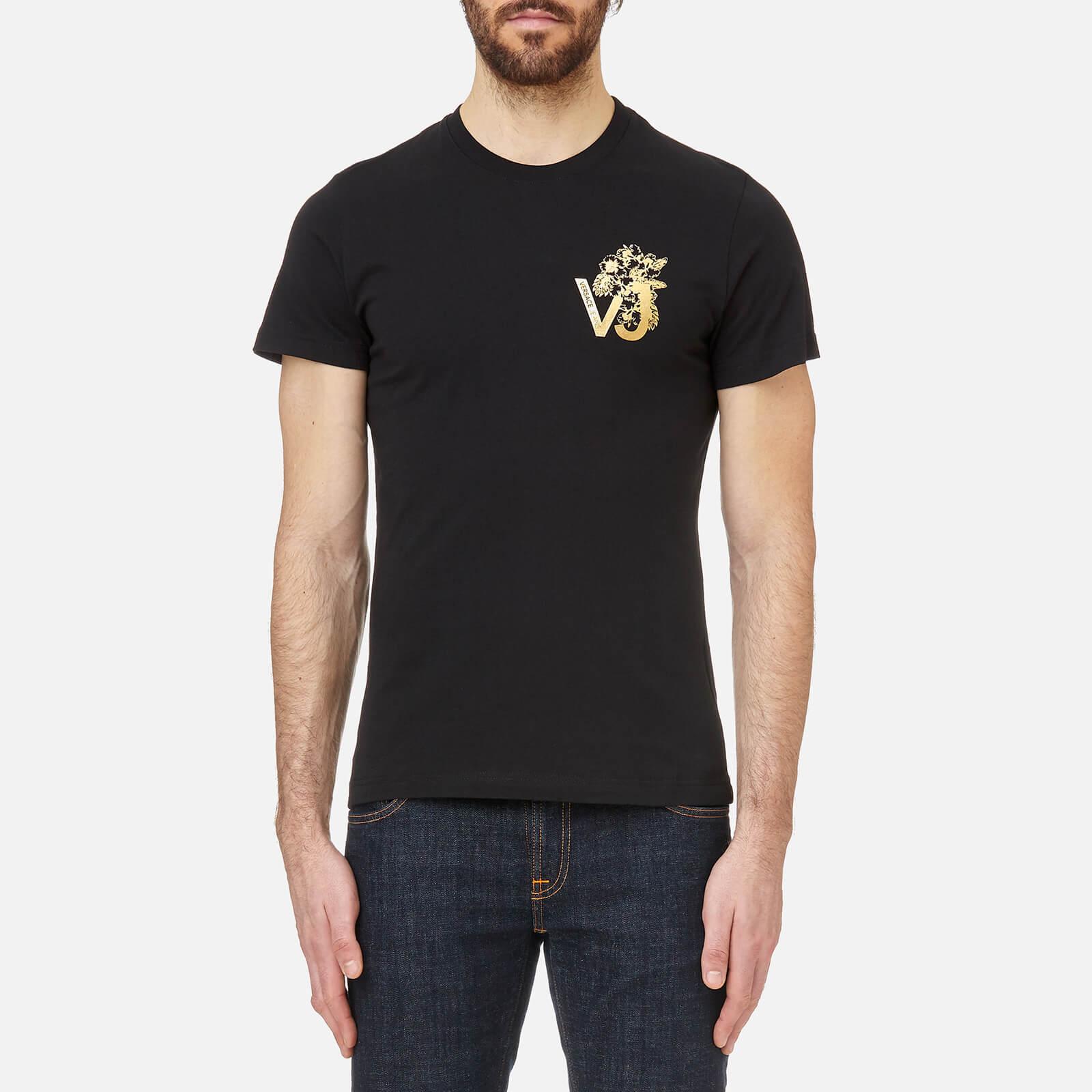 63c2100a Versace Jeans Foil VJ Line Logo Long Sleeve T-Shirt Black