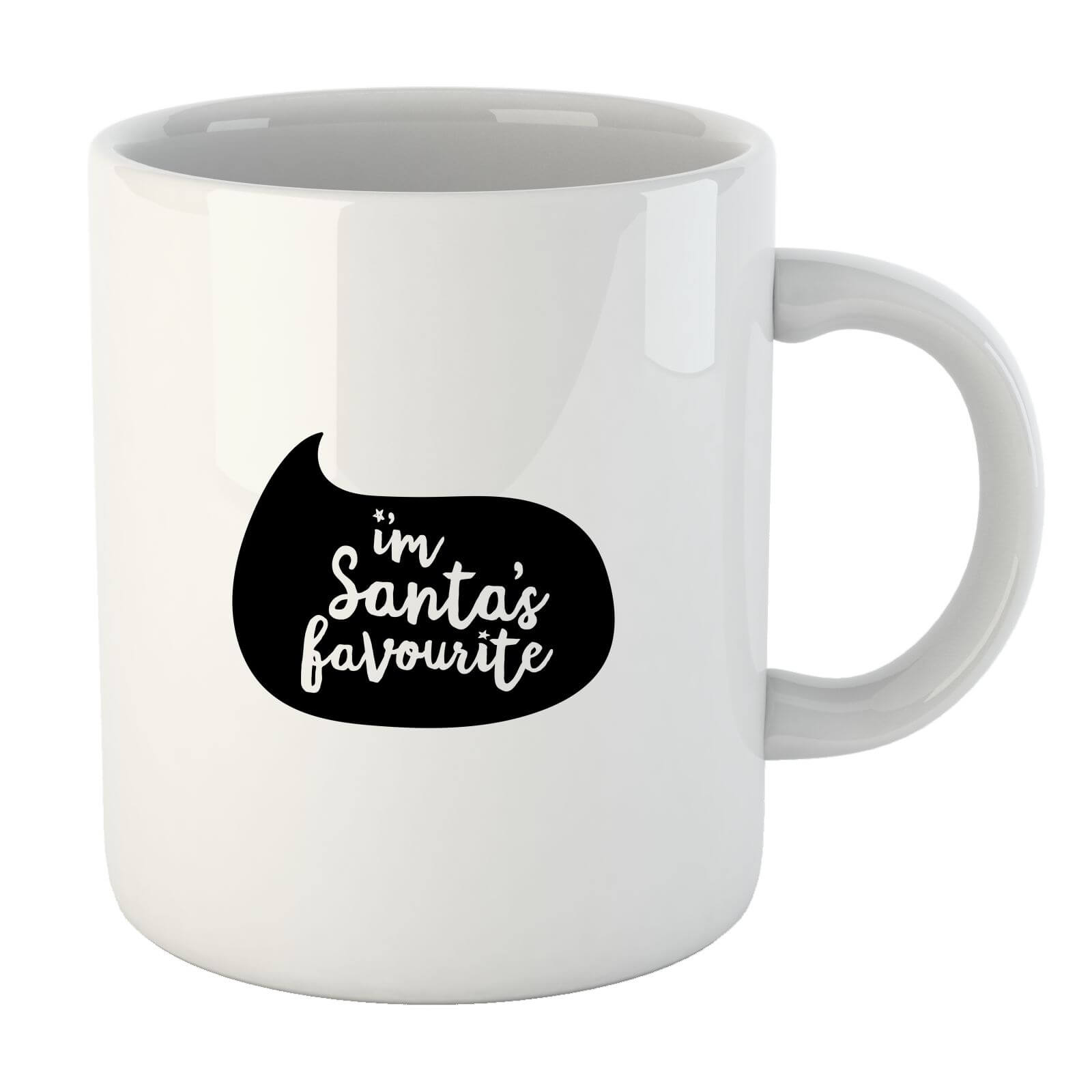 Christmas Santas Favourite Speech Bubble Mug
