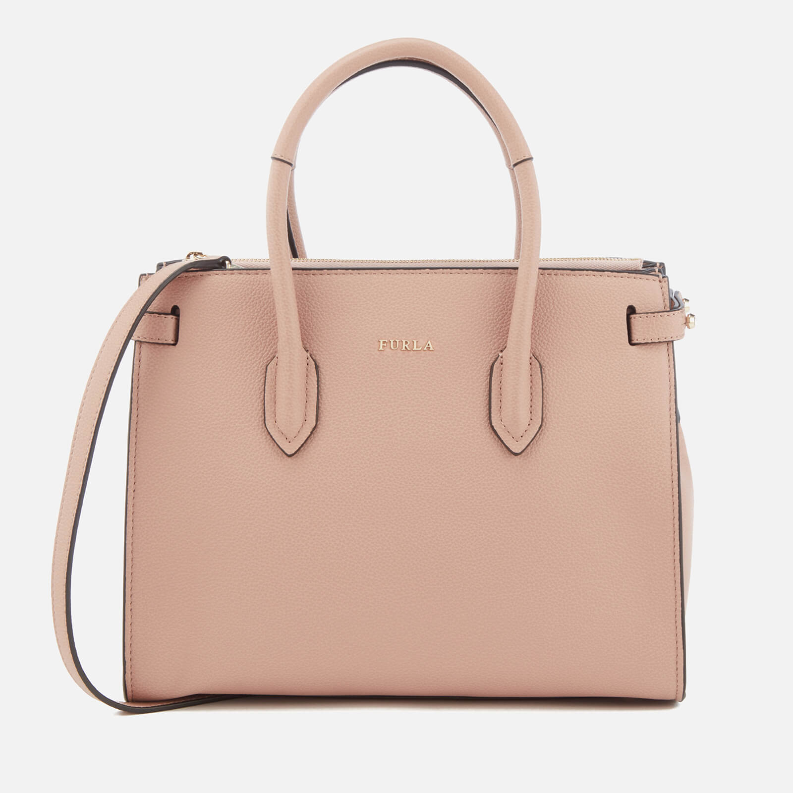Furla Women's Pin Small East West Tote Bag - Moonstone 原價315英鎊 優惠價189英鎊
