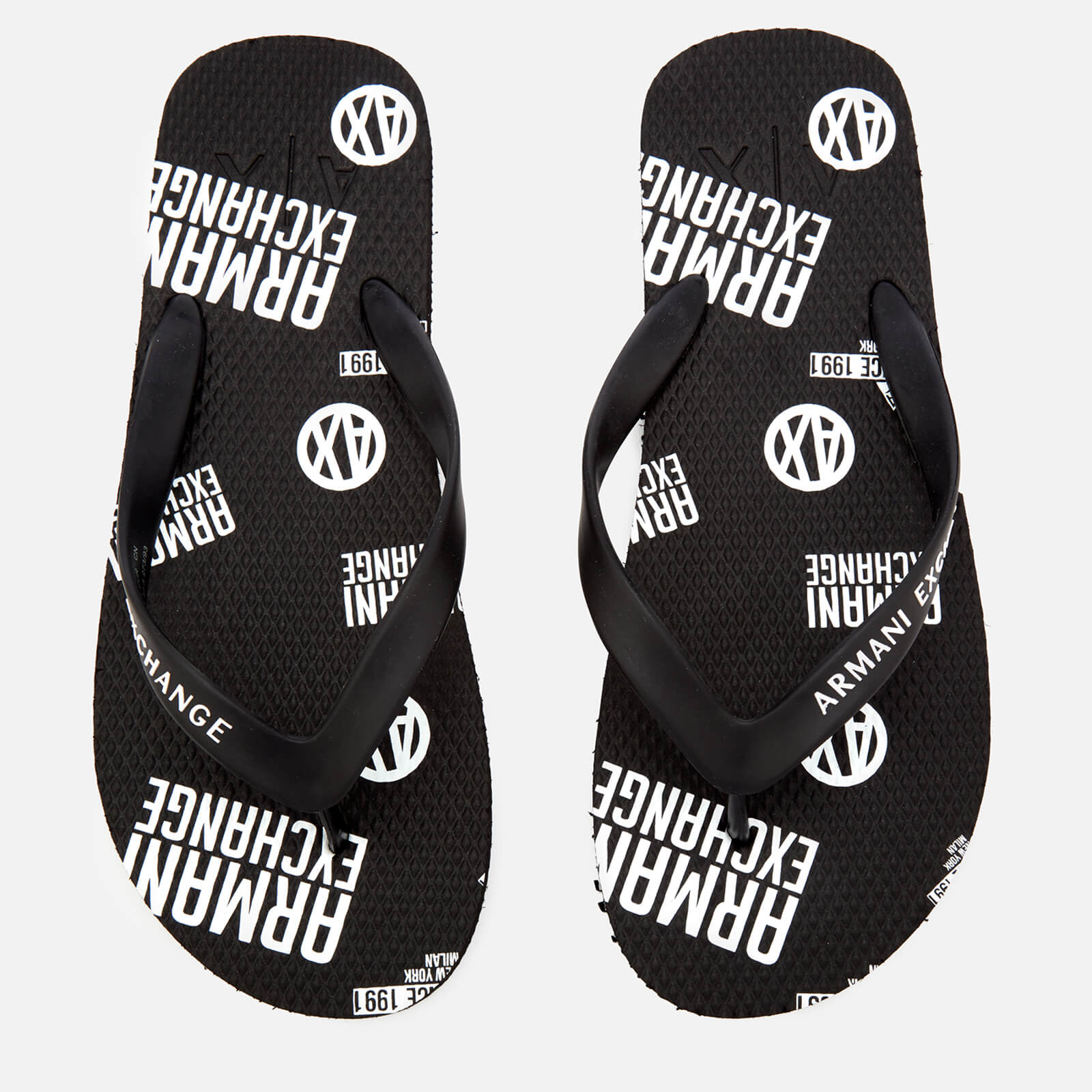 b157e9875fdc Armani Exchange Men s AX Flip Flops - Nero Mens Footwear