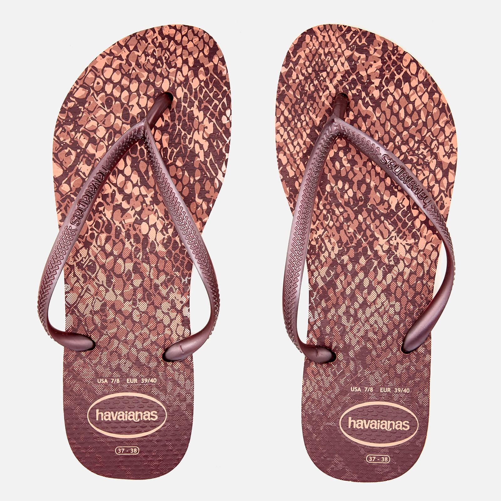 94aa5e8fe Havaianas Women s Slim Animals Flip Flops - Crocus Rose Womens Accessories