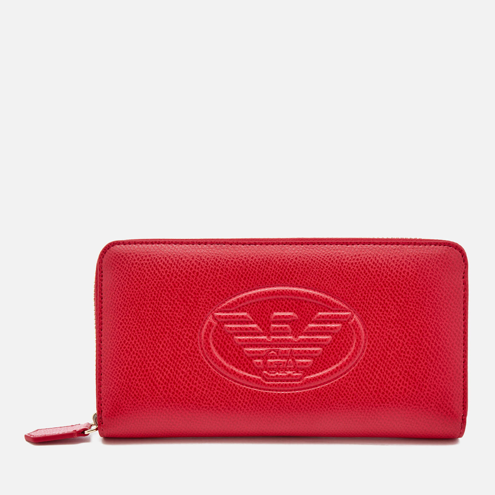 b0c990a7d3a Emporio Armani Women s Zip Around Wallet - Red - Free UK Delivery ...