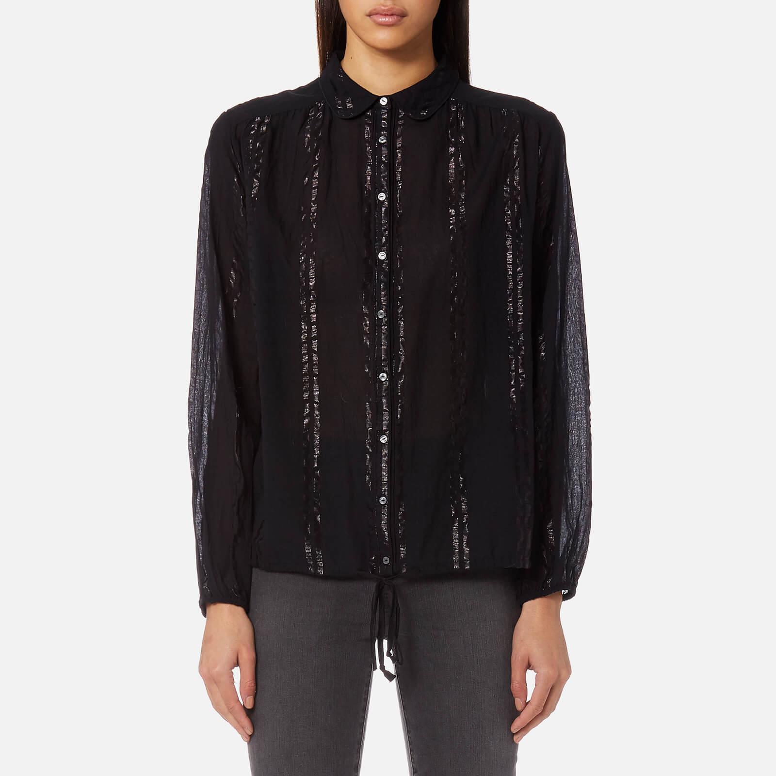 70a5b2cd389 Maison Scotch Women's Sheer Cotton Lurex Tunic Top - Black Womens Clothing  | TheHut.com