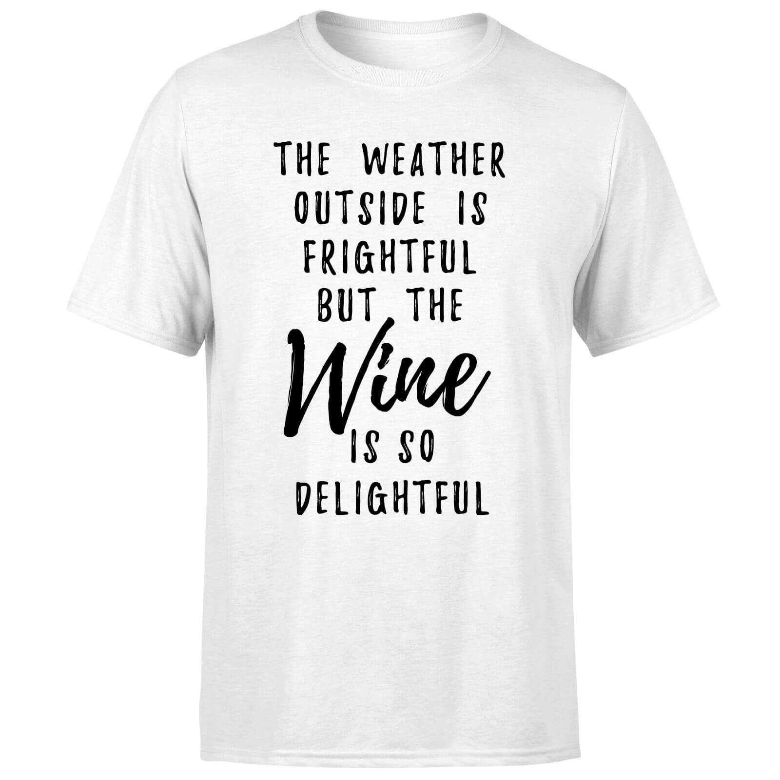 Wine Is So Delightful T-Shirt - White