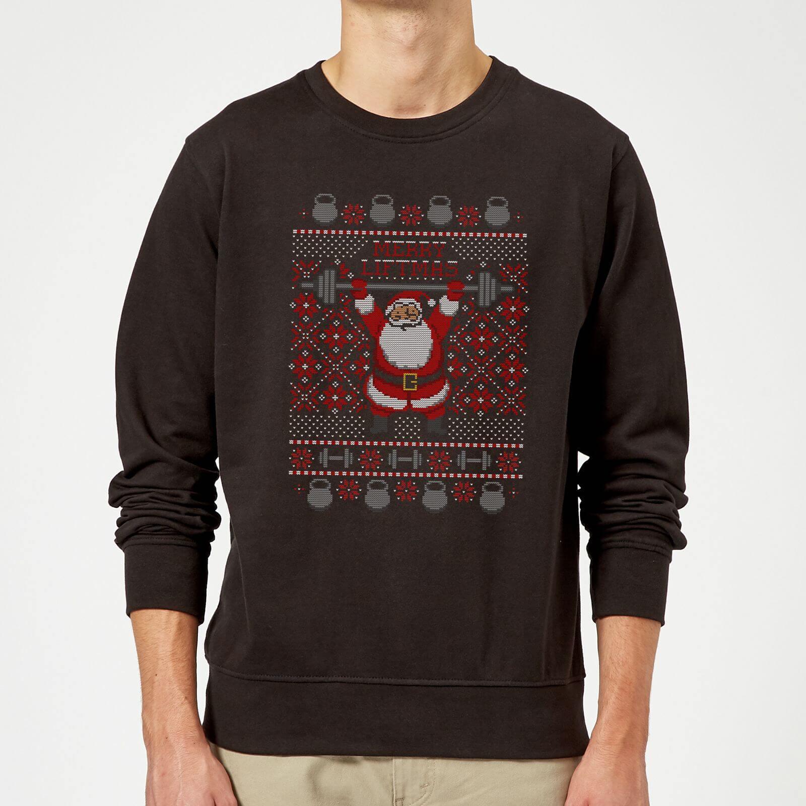 77f21481707 Merry Liftmas Sweatshirt - Black Clothing