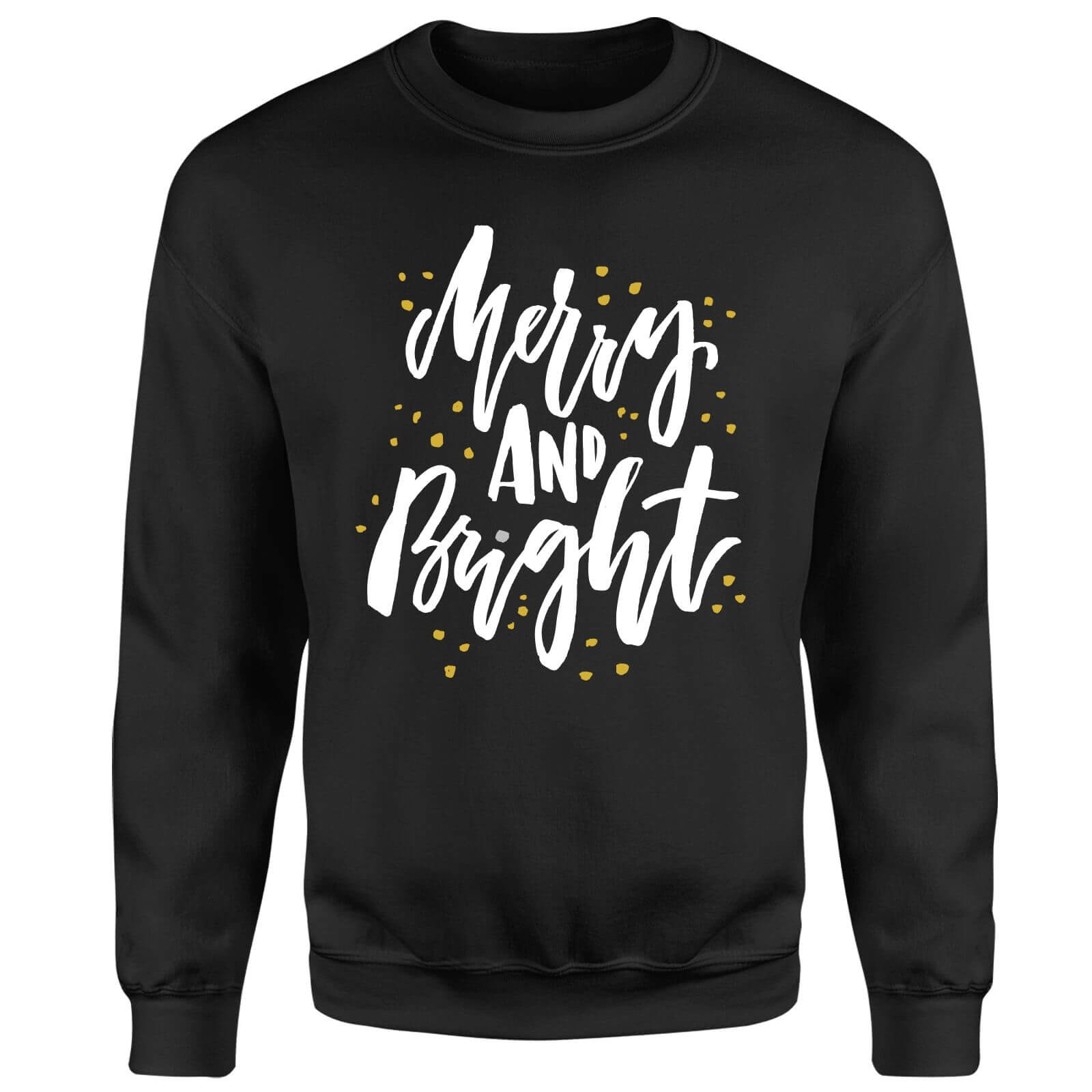 Merry and Bright Sweatshirt - Black