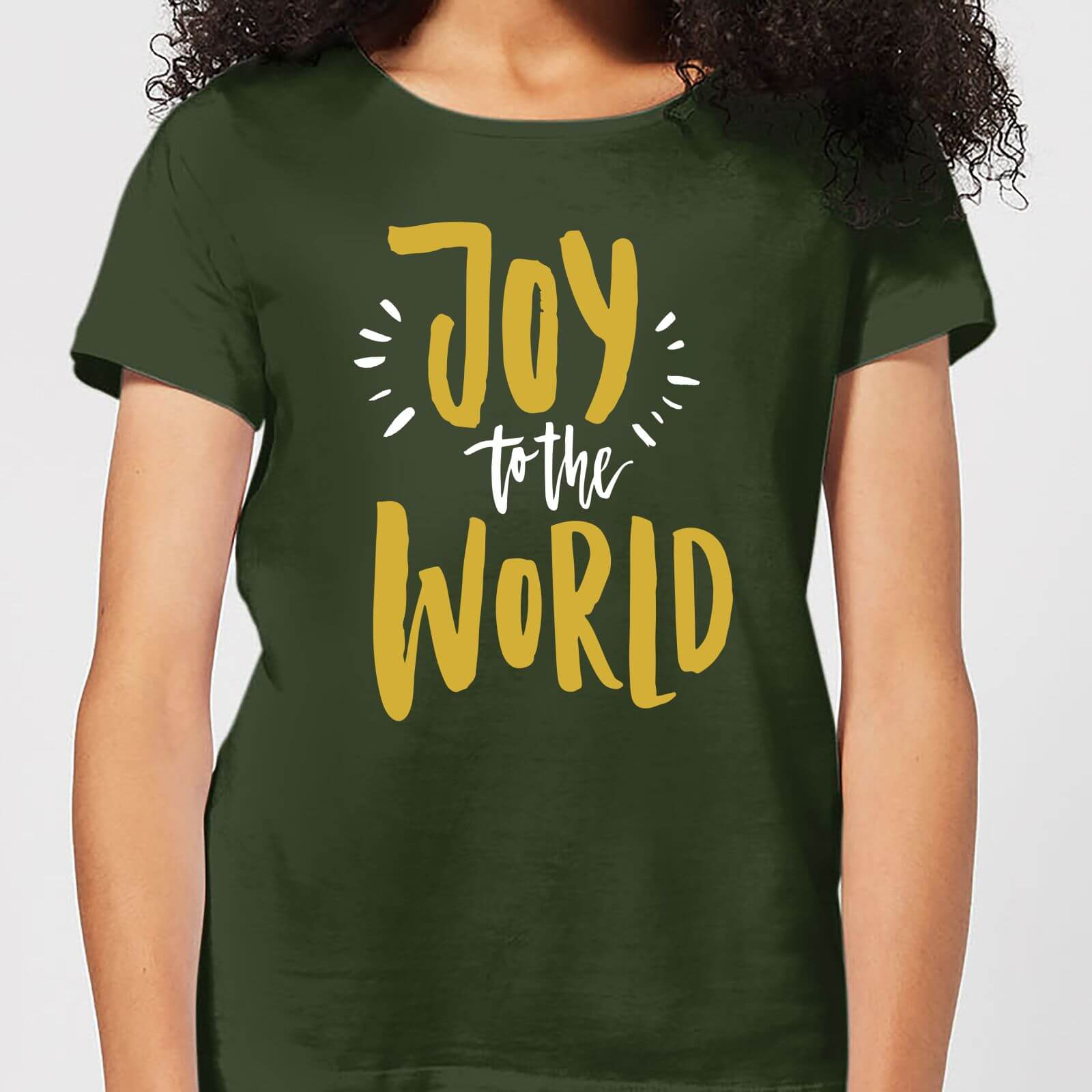 57a0f34ce57c Joy to the World Women's T-Shirt - Forest Green | IWOOT