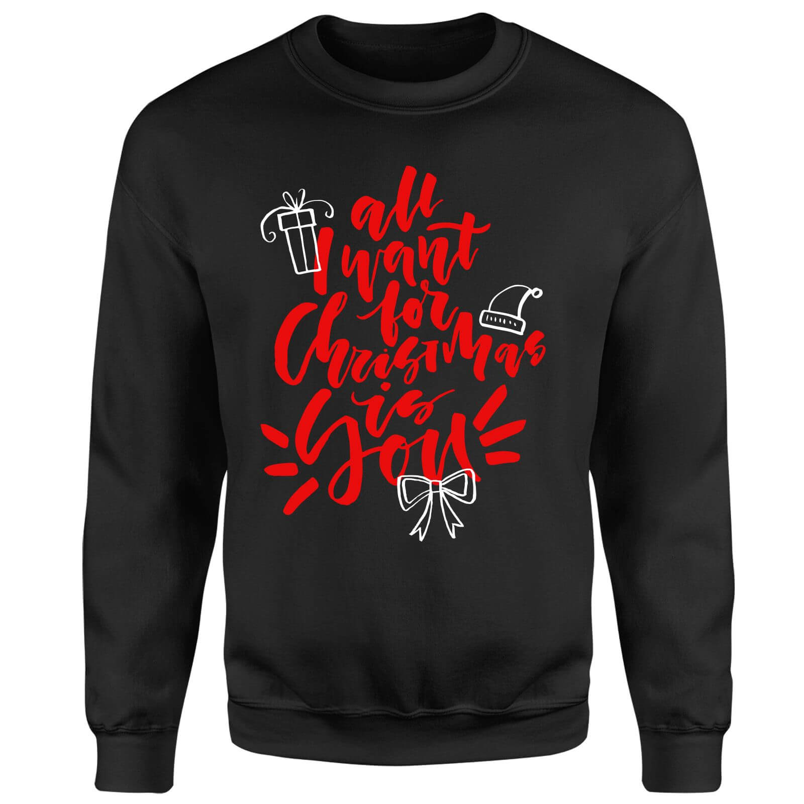 All i want for Christmas Sweatshirt - Black
