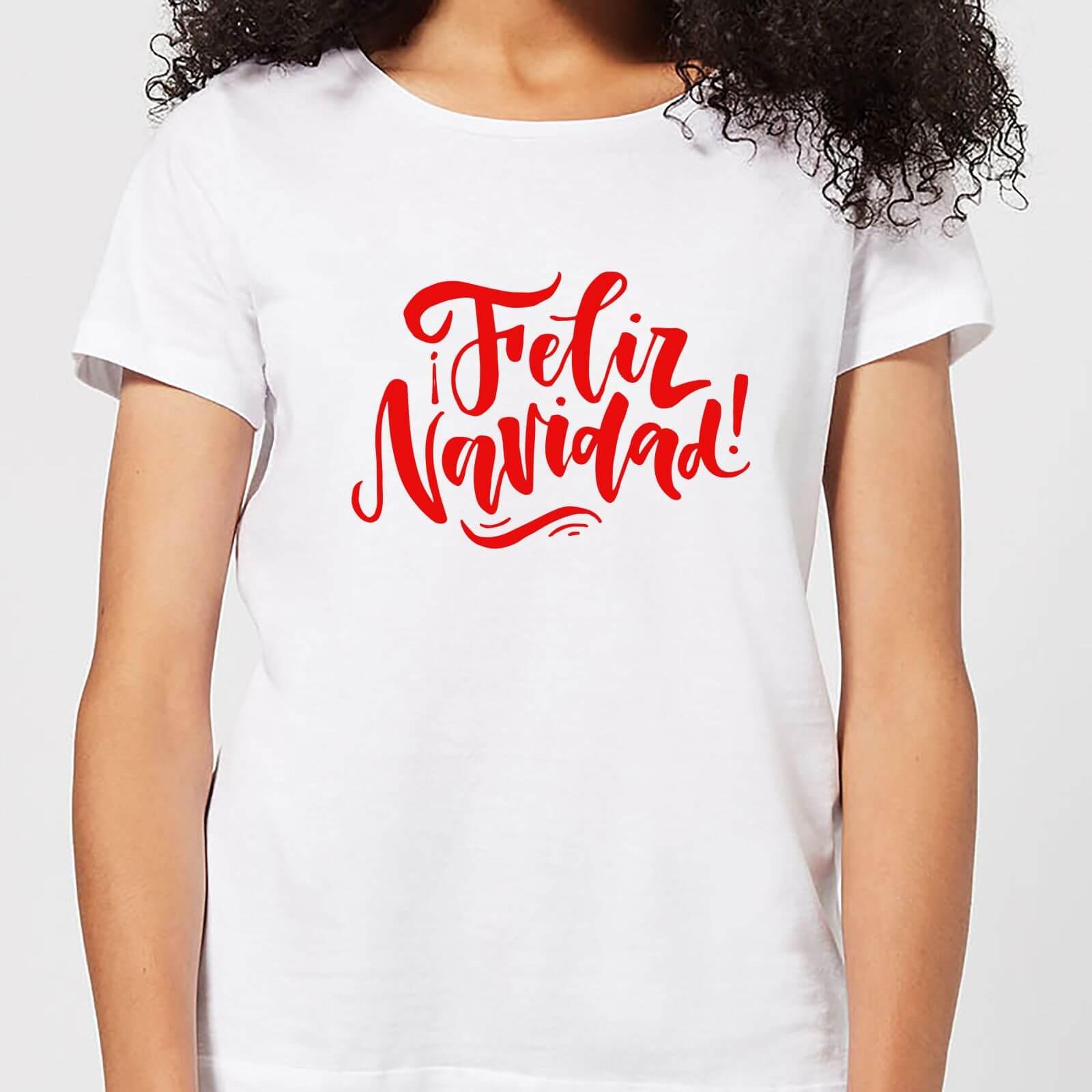 Feliz Blanco Navidad Zavvi Clothing Camiseta Mujer pnfxB