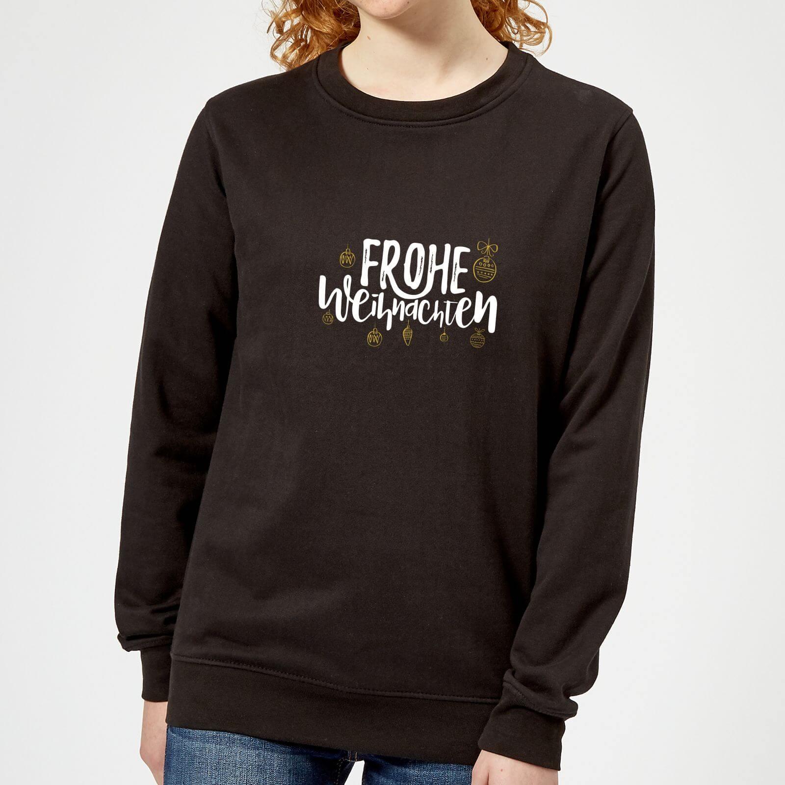 T Shirt Weihnachten.Frohe Weihnachten Women S Sweatshirt Black