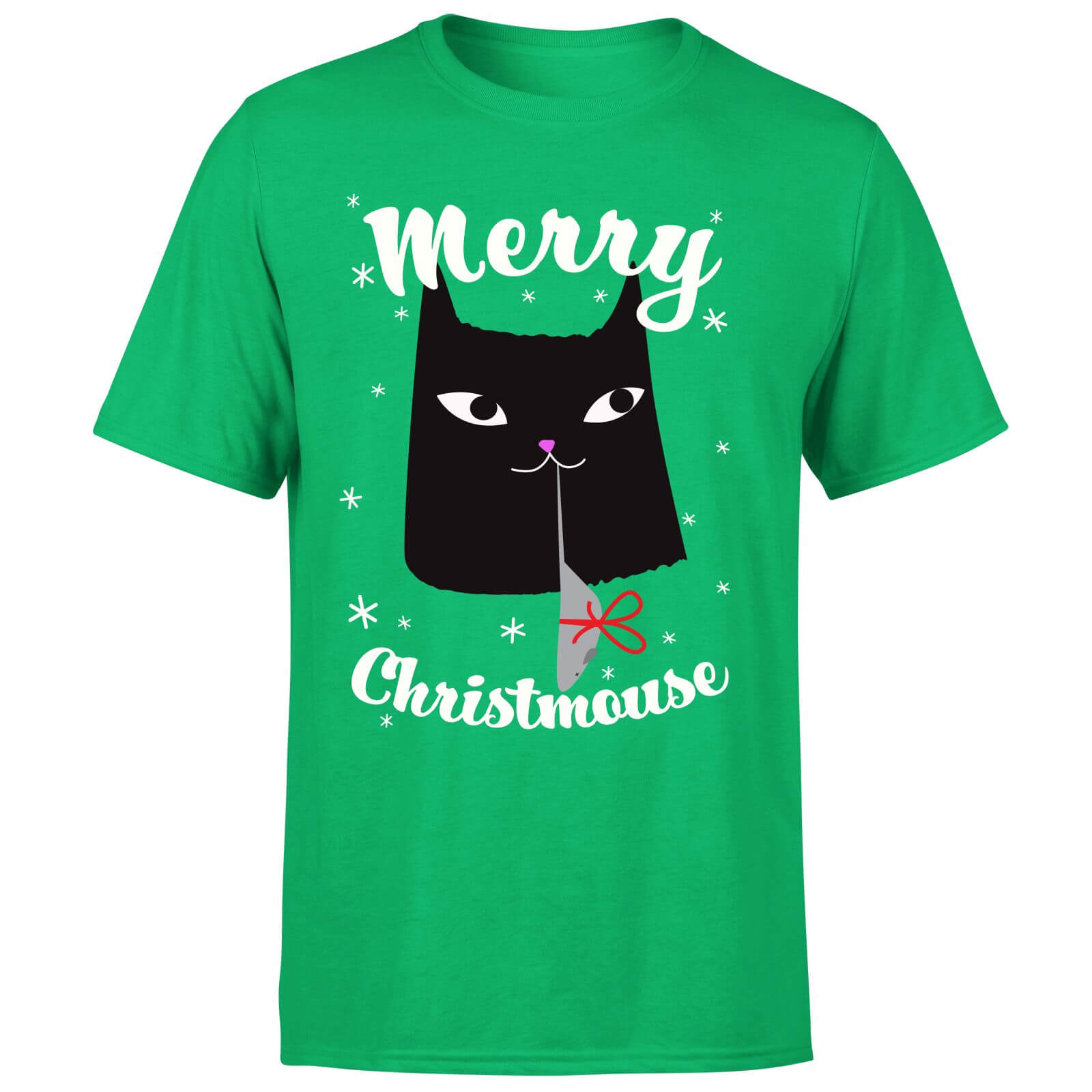 Merry Christmouse T-Shirt - Kelly Green