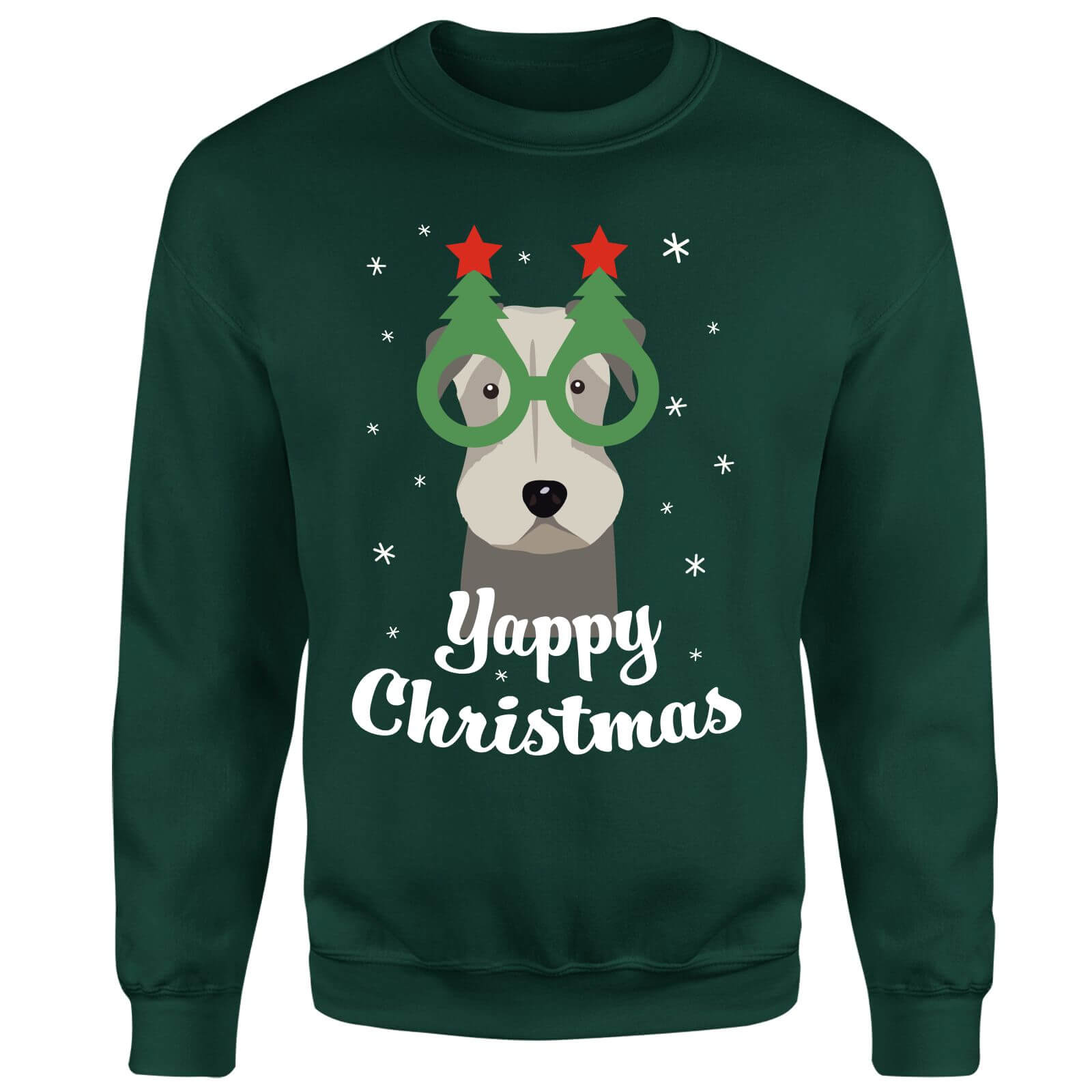 Yappy Christmas Sweatshirt - Forest Green
