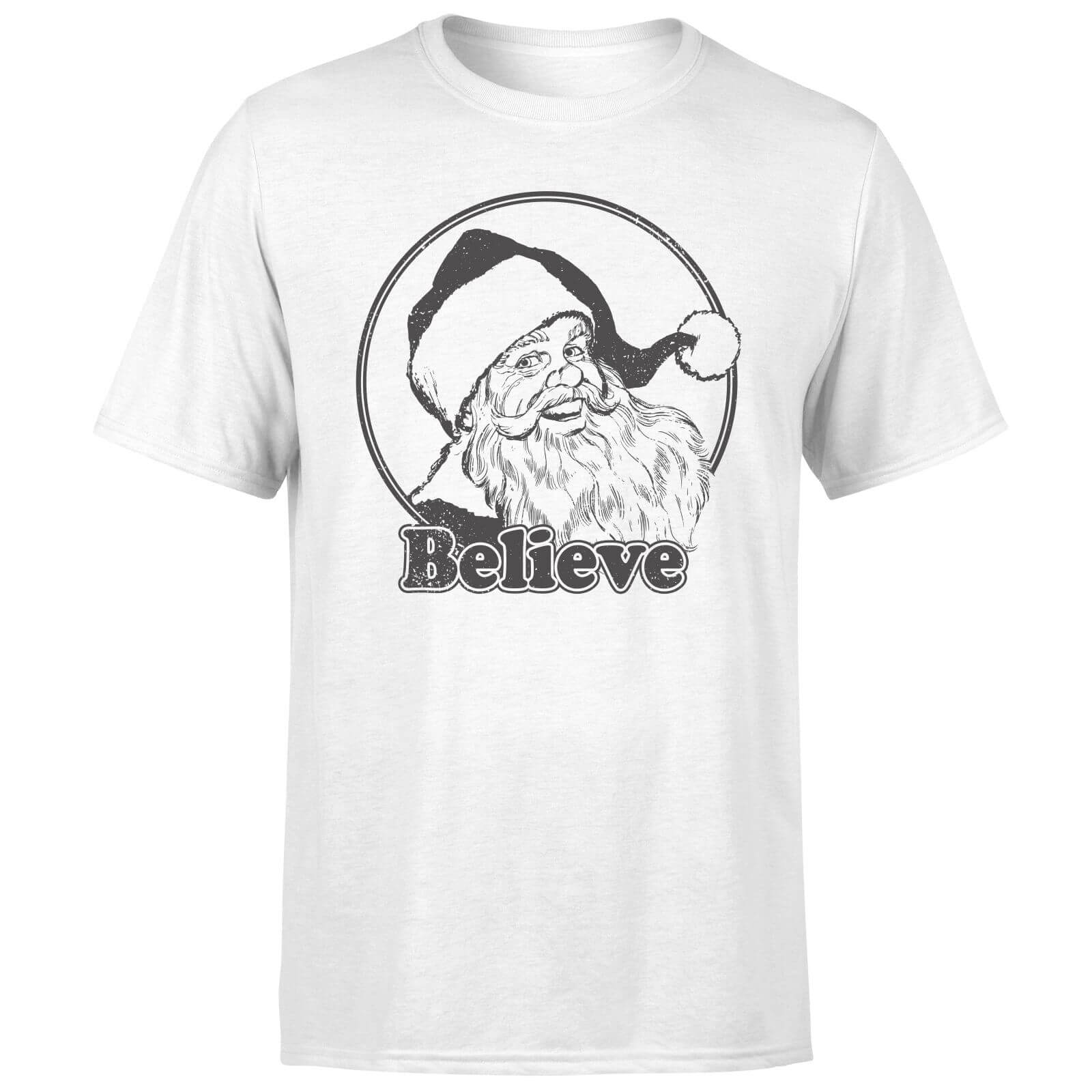 Believe Grey T-Shirt - White