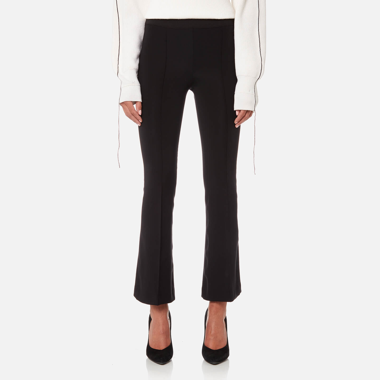 4f3124db6a251 Helmut Lang Women's Cropped Flare Leggings - Black - Free UK Delivery over  £50