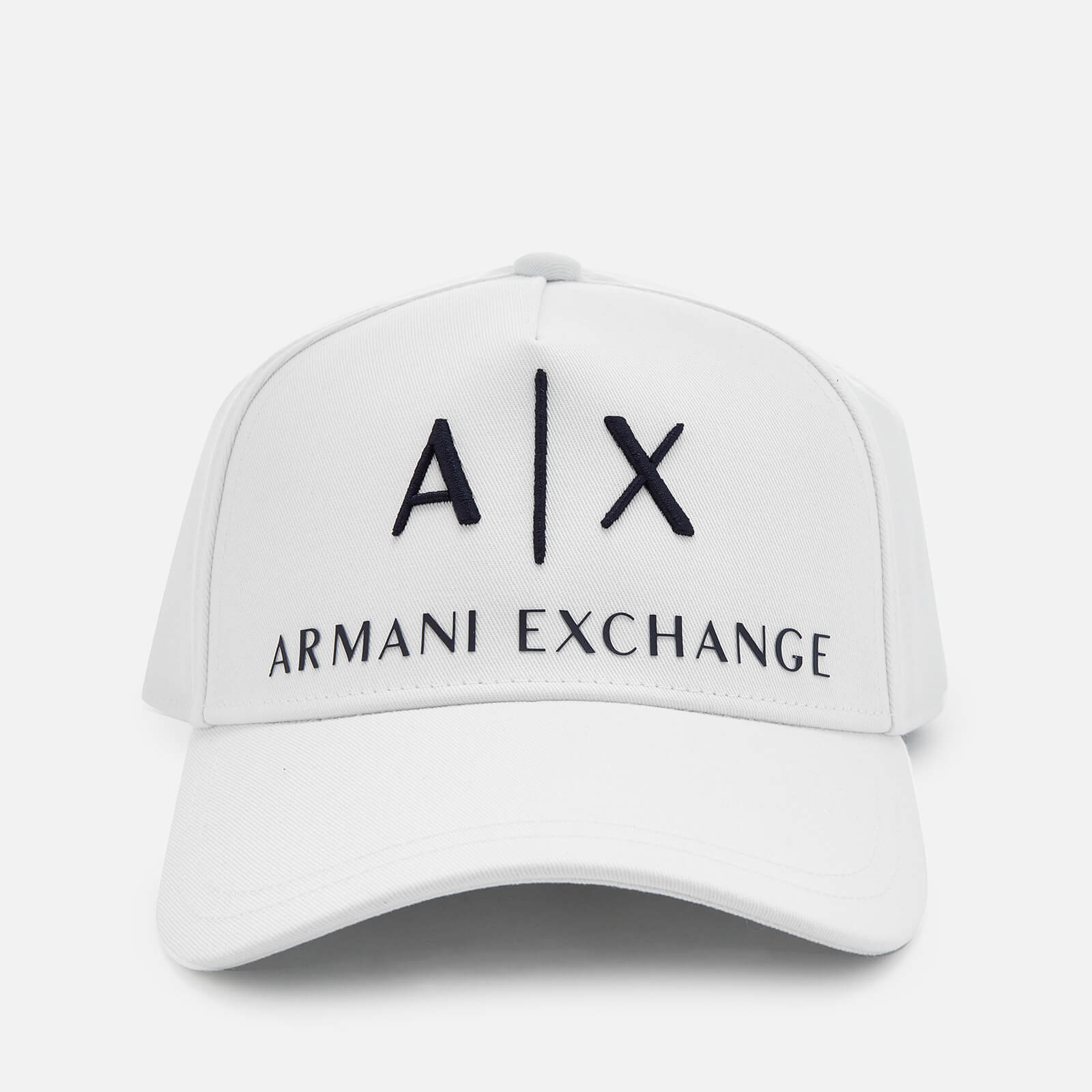 b1596a0e5ee02 Armani Exchange Men s Logo Cap - White Mens Accessories