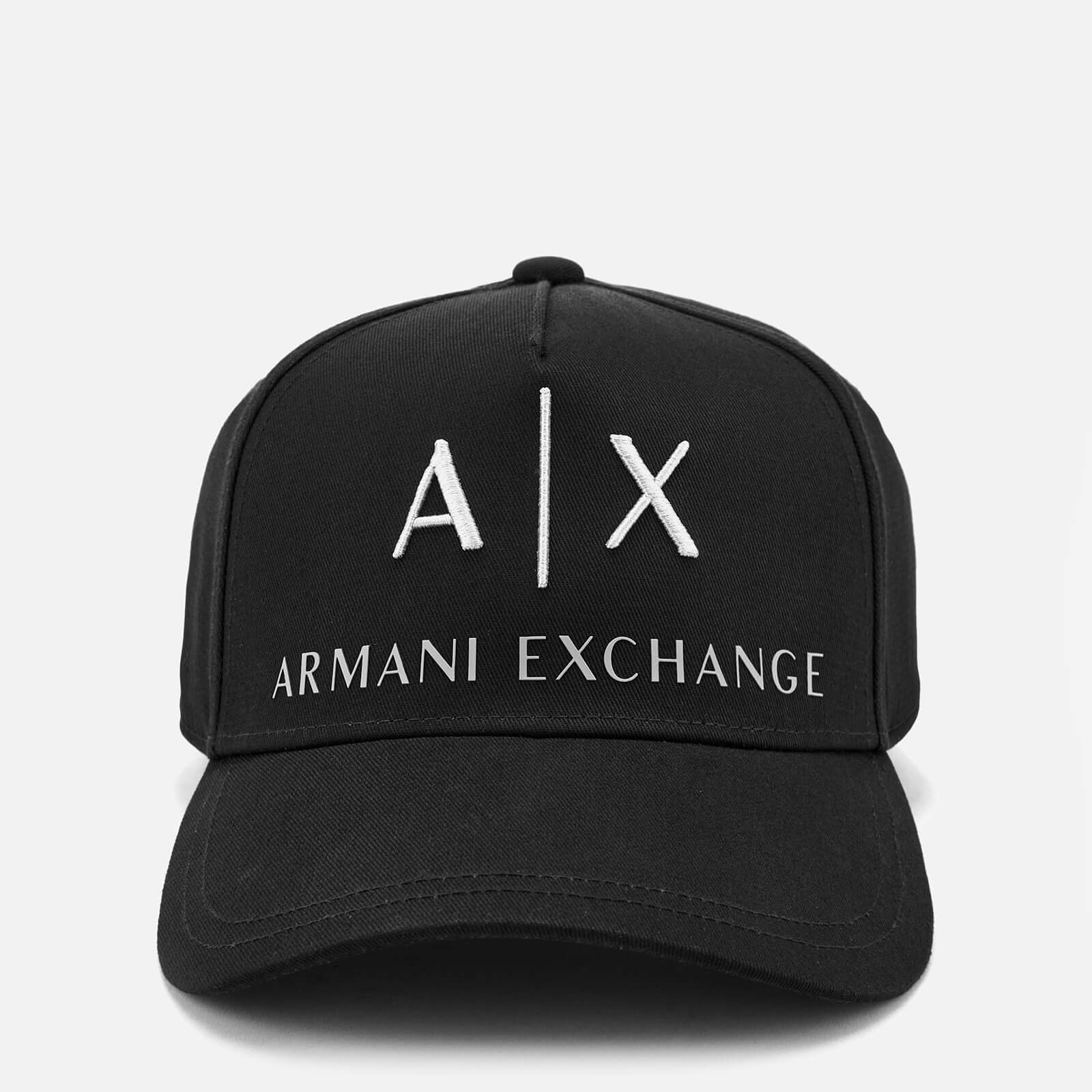 33c5c2e5f7296 Armani Exchange Men s Logo Cap - Black Mens Accessories