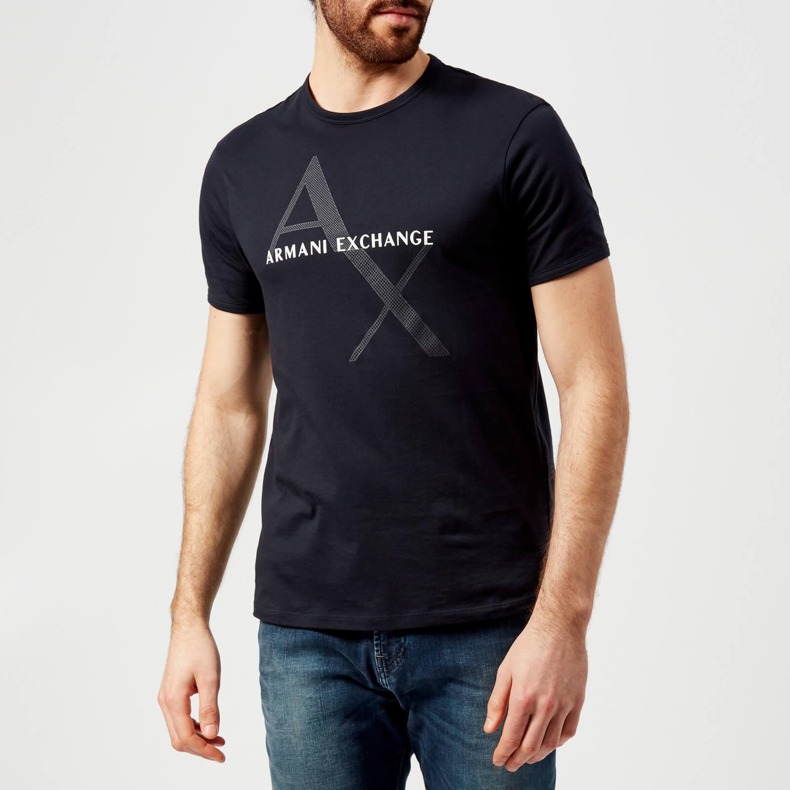 3d443504617 Armani Exchange Men s Script Logo T-Shirt - Navy Clothing