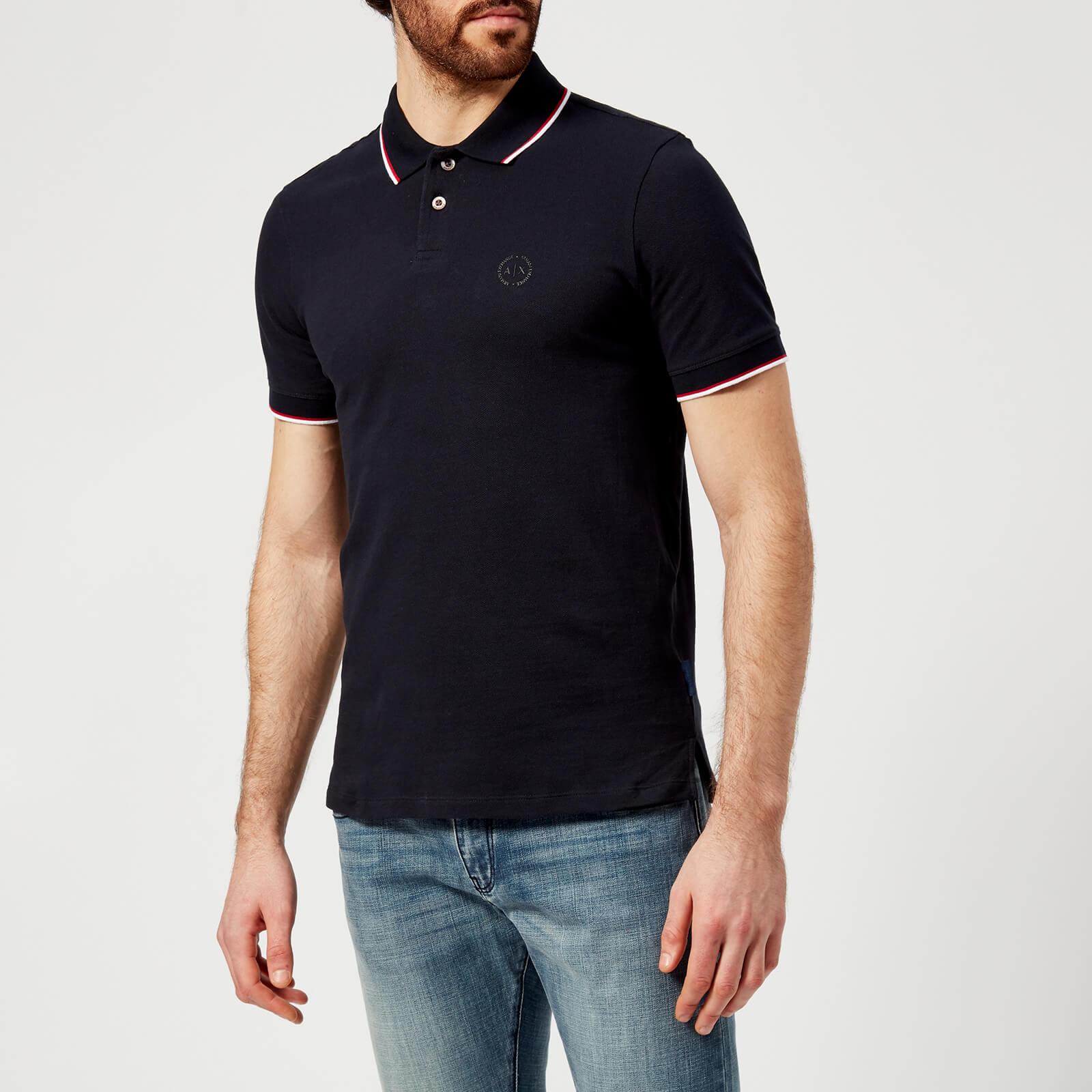 7952383a Armani Exchange Men's Tipped Polo Shirt - Navy Clothing | TheHut.com