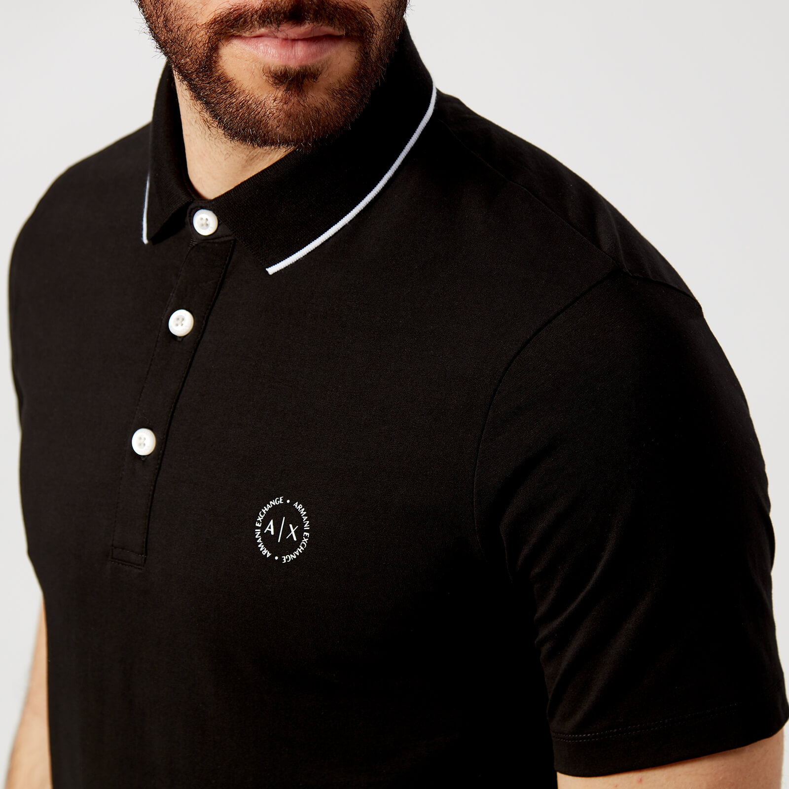2c6be4c1 Armani Exchange Men's Mercerised Polo Shirt - Black