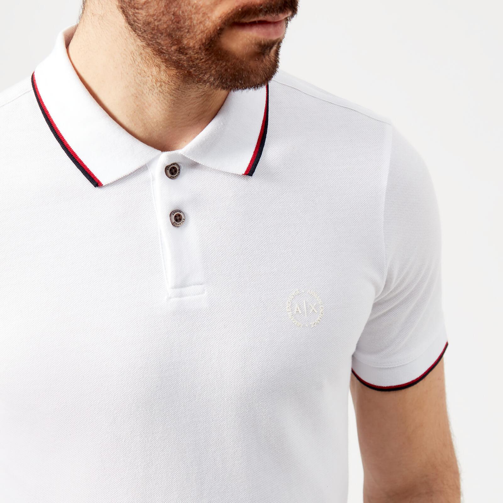 1e018ddc Armani Exchange Men's Tipped Polo Shirt - White Clothing | TheHut.com