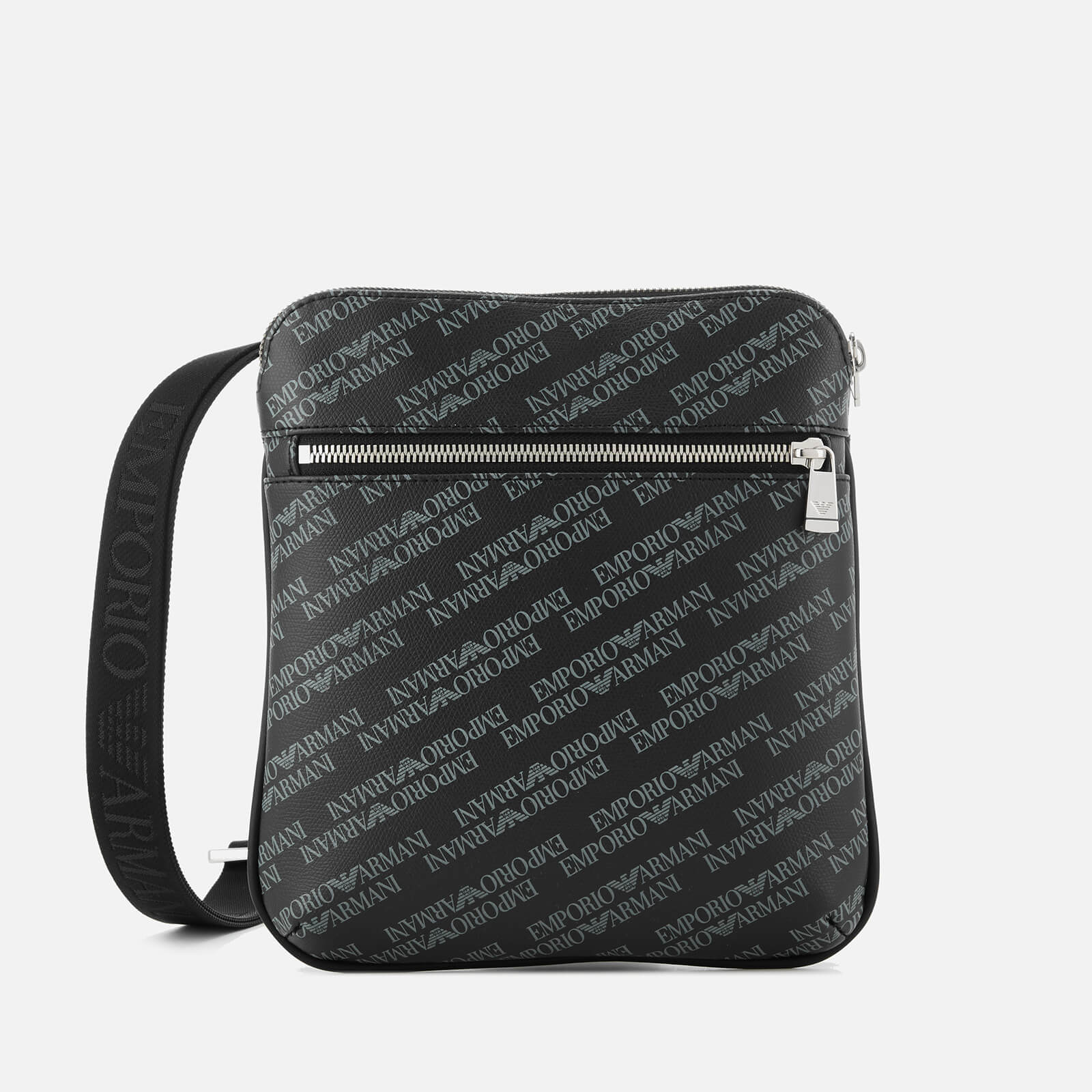 1a41b5e7 Emporio Armani Men's Allover Logo Cross Body Bag - Black