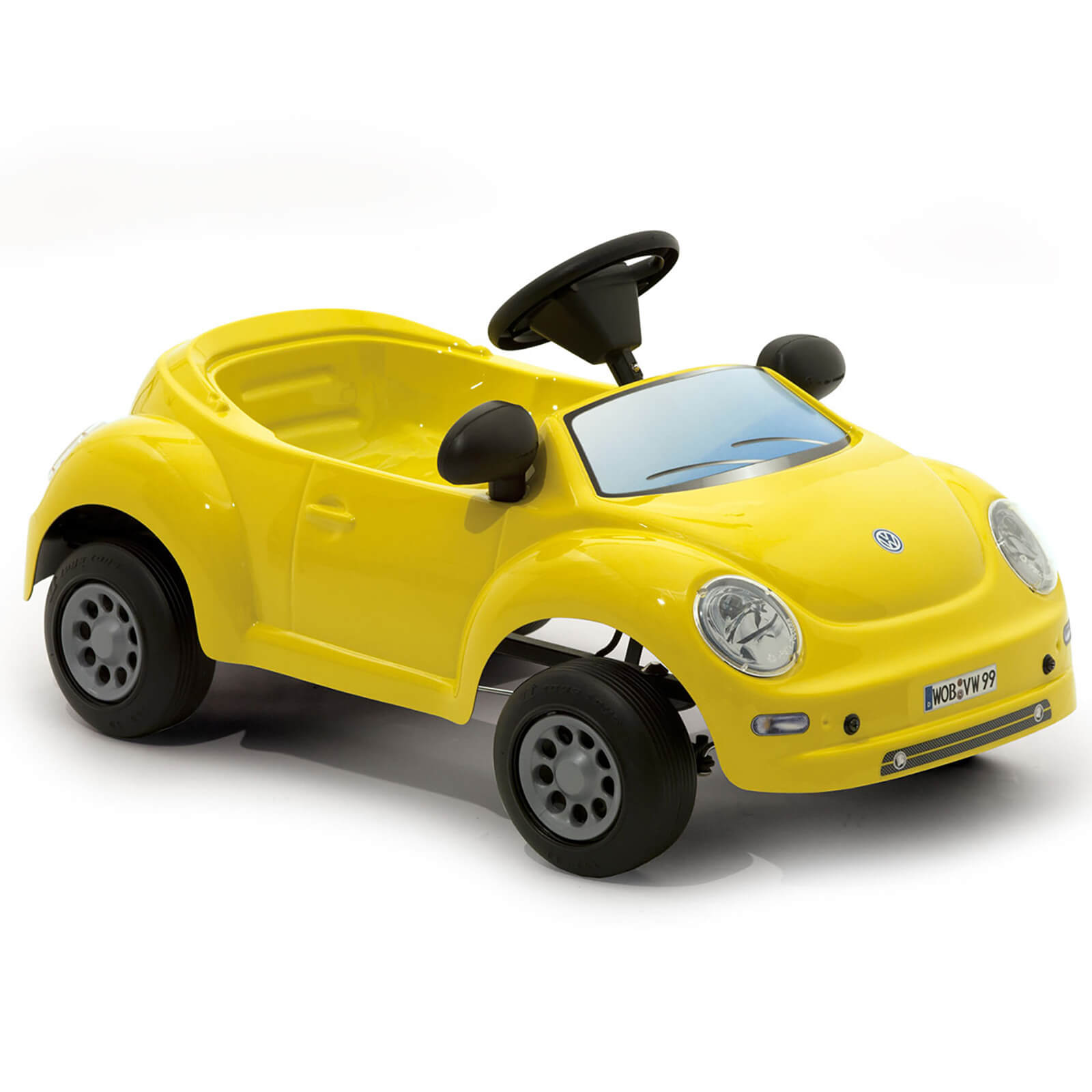 Volkswagen Beetle Baby Pedal Power Car - Yellow