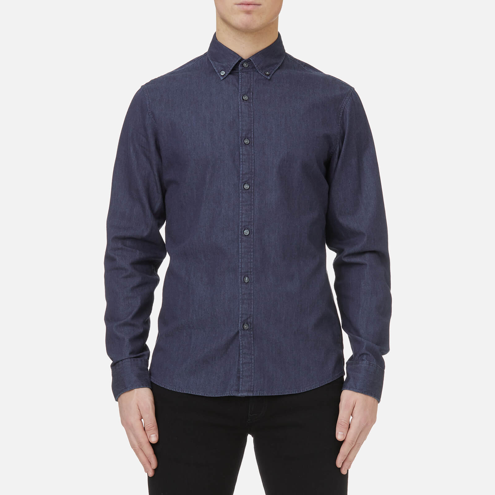 413248253f Michael Kors Men s Slim Fit Clean Dark Washed Denim Shirt - Dark Wash -  Free UK Delivery over £50