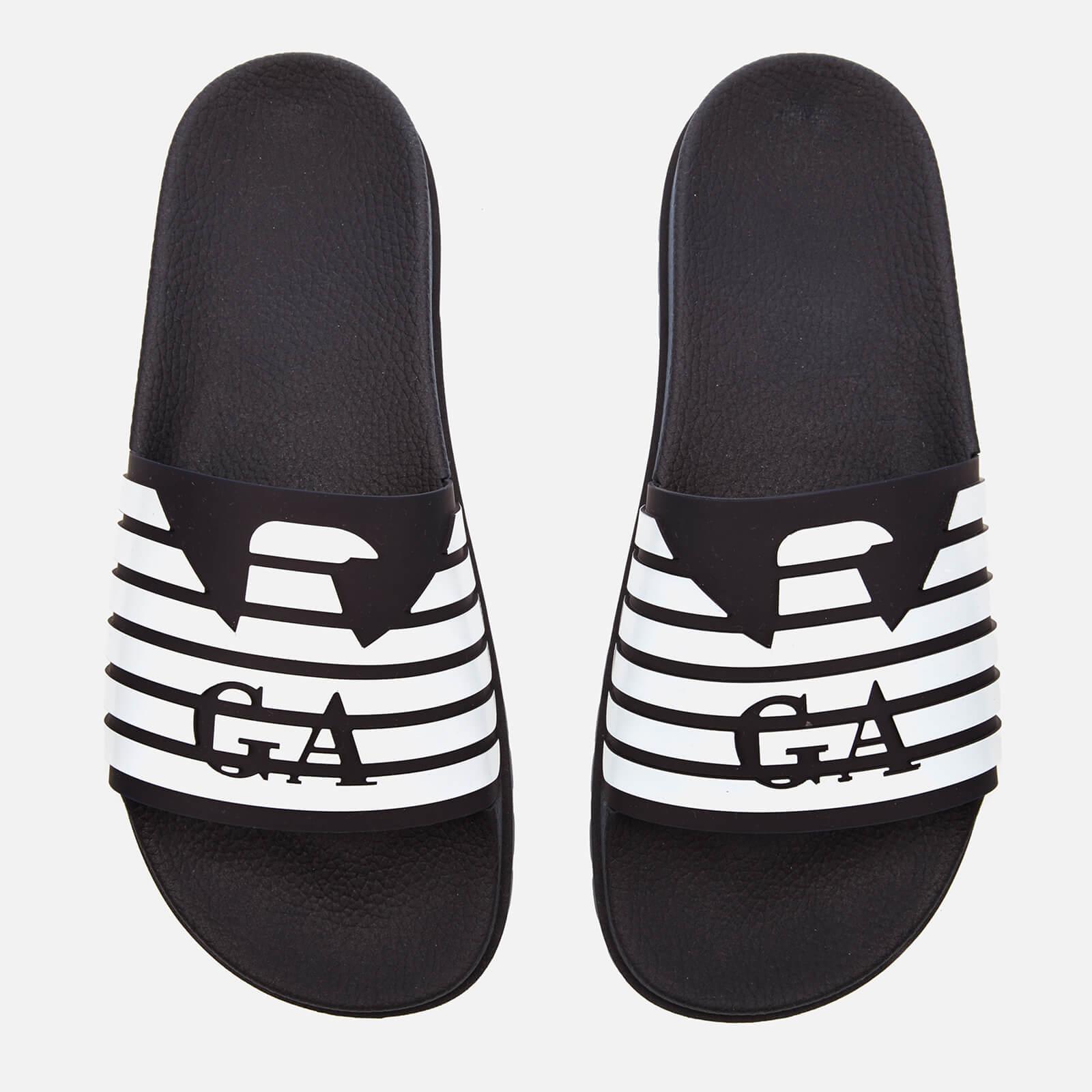 bb7dcd5840 Emporio Armani Men's Zup Slide Sandals - Blue/Night/White