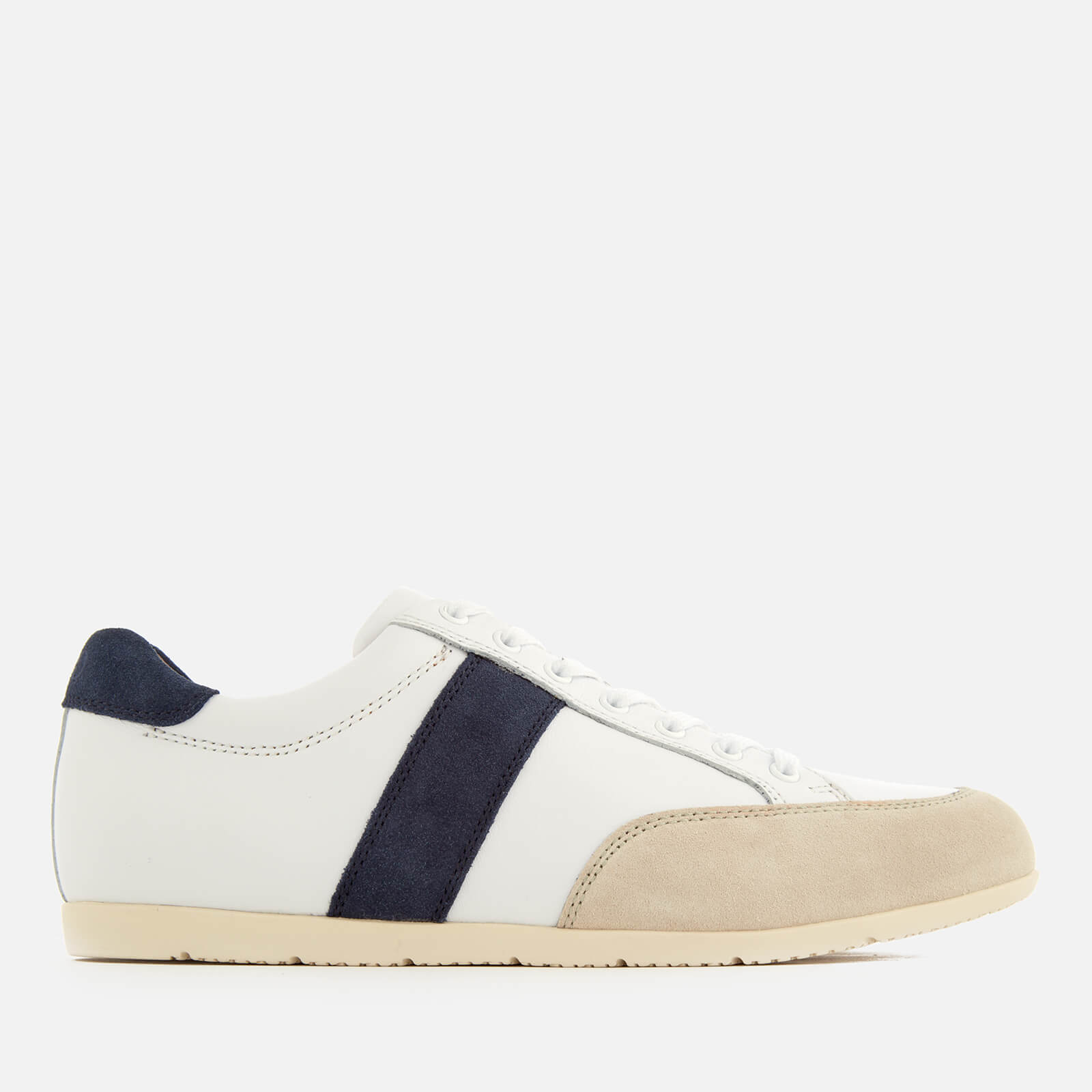 4ec10b1ac0b Polo Ralph Lauren Men s Price Nappa Suede Low Profile Trainers -  White Indigo Ivory - Free UK Delivery over £50
