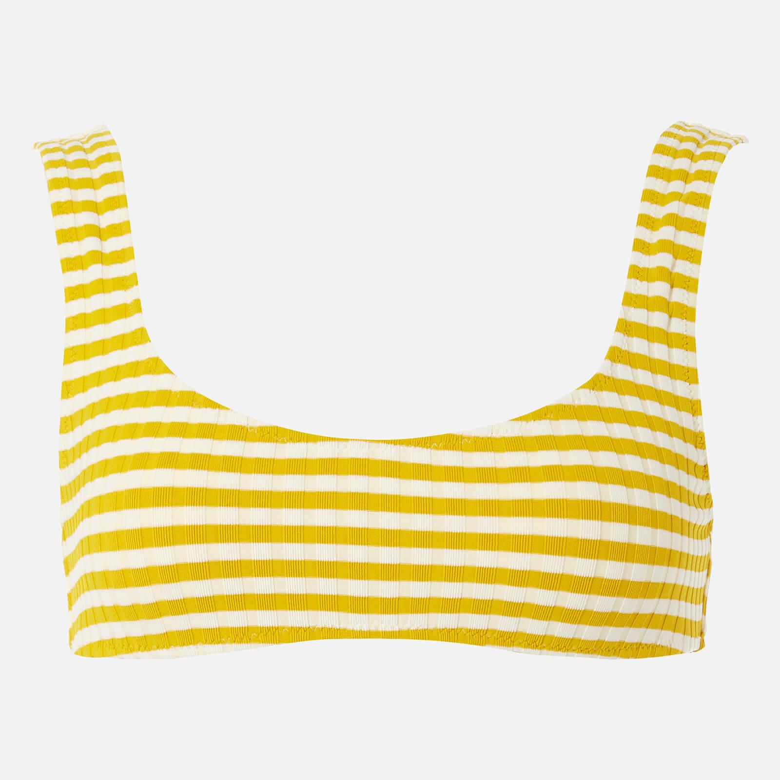 f2e5cba2ab4d Solid   Striped Women s The Elle Top - Mustard Stripe Rib - Free UK  Delivery over £50