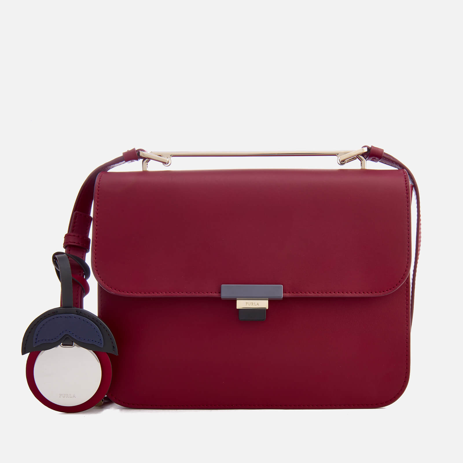 9fe3f267b6 Furla Women s Elisir Small Cross Body Bag - Burgundy - Free UK Delivery  over £50