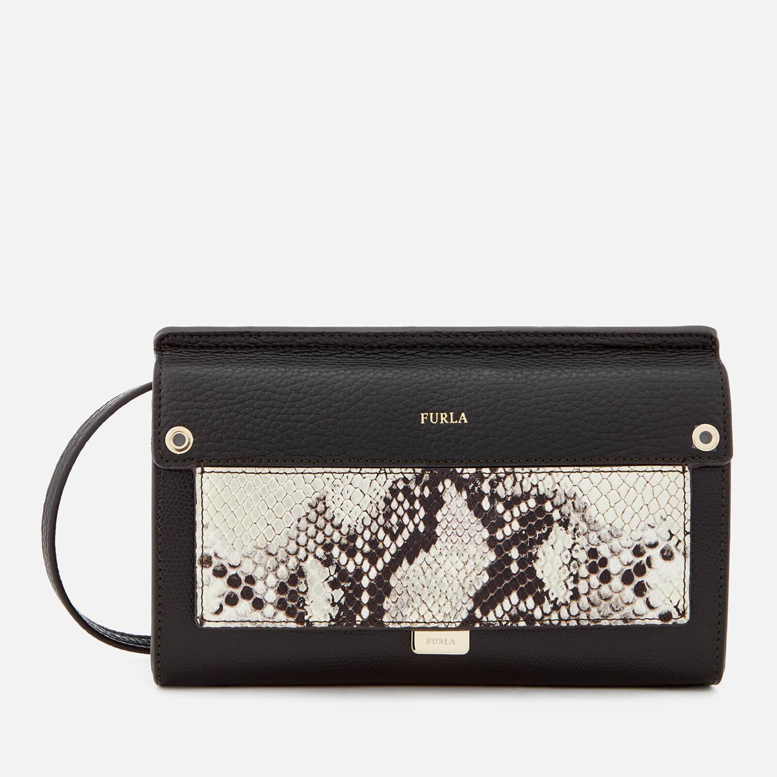 e584d8db54 Furla Women s Like Mini Cross Body Bag - Black Gold - Free UK Delivery over  £50