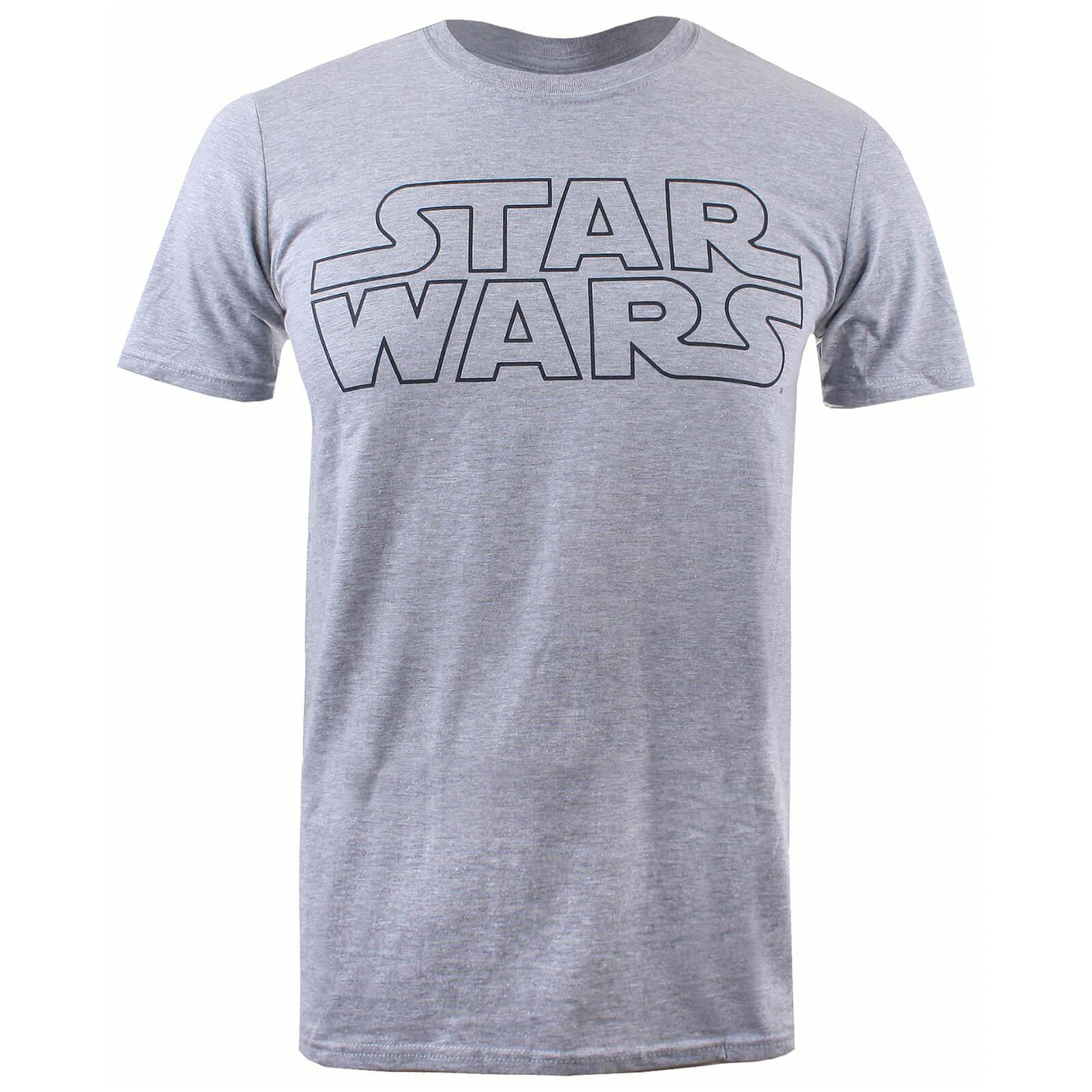 t shirt homme logo basique star wars gris chin merchandise. Black Bedroom Furniture Sets. Home Design Ideas