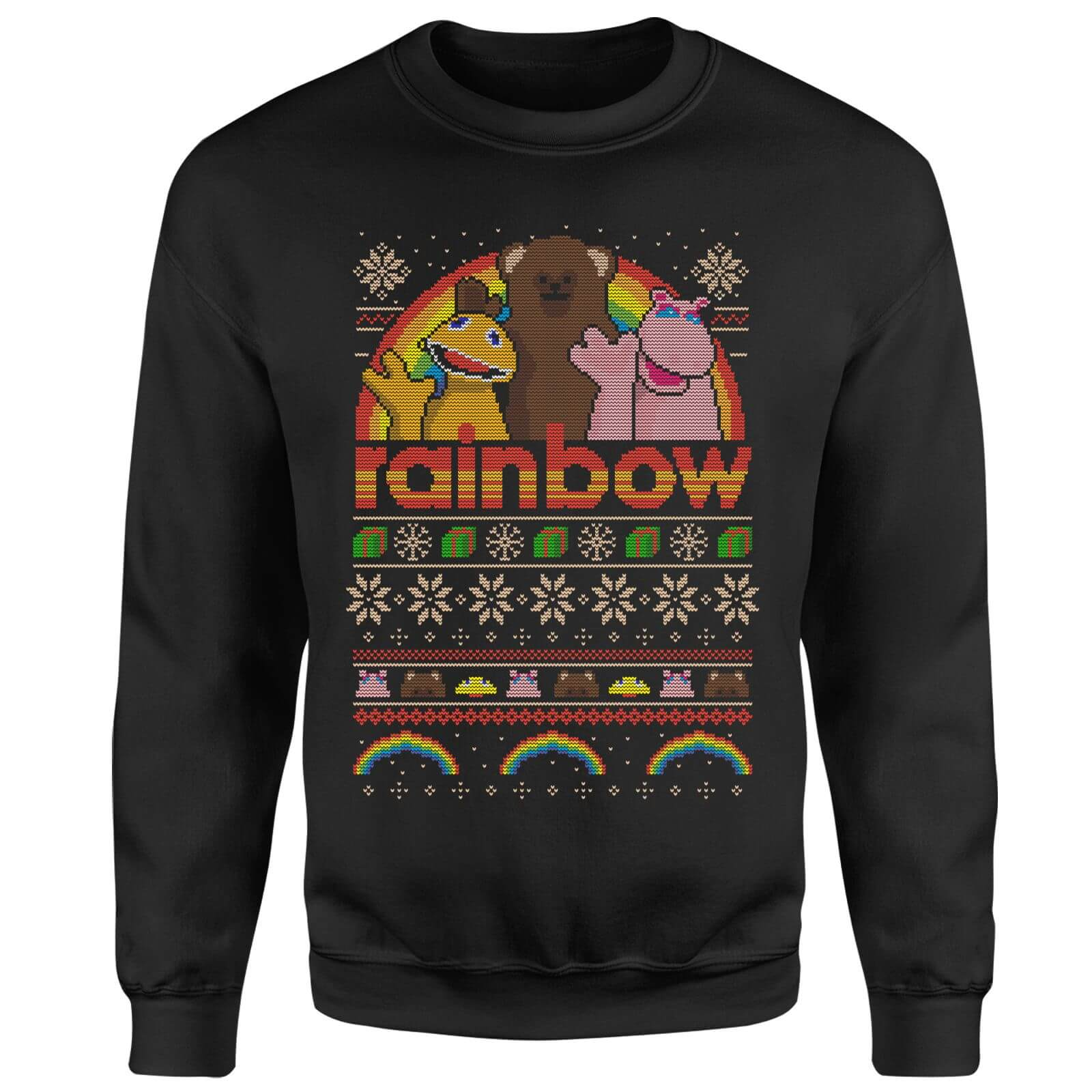 Rainbow Christmas Sweatshirt - Black