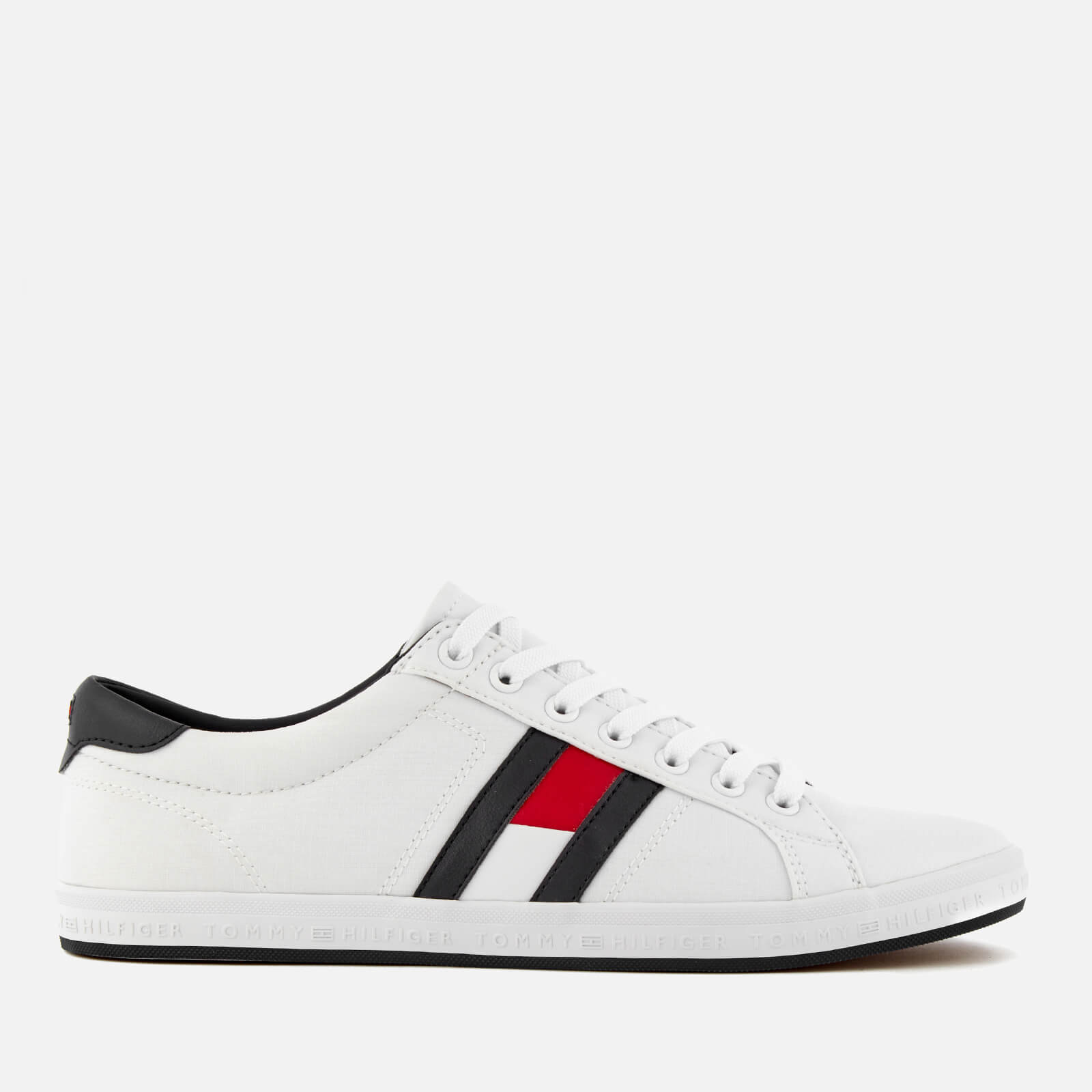 60d17608f Tommy Hilfiger Men s Essential Flag Details Trainers - White Mens Footwear