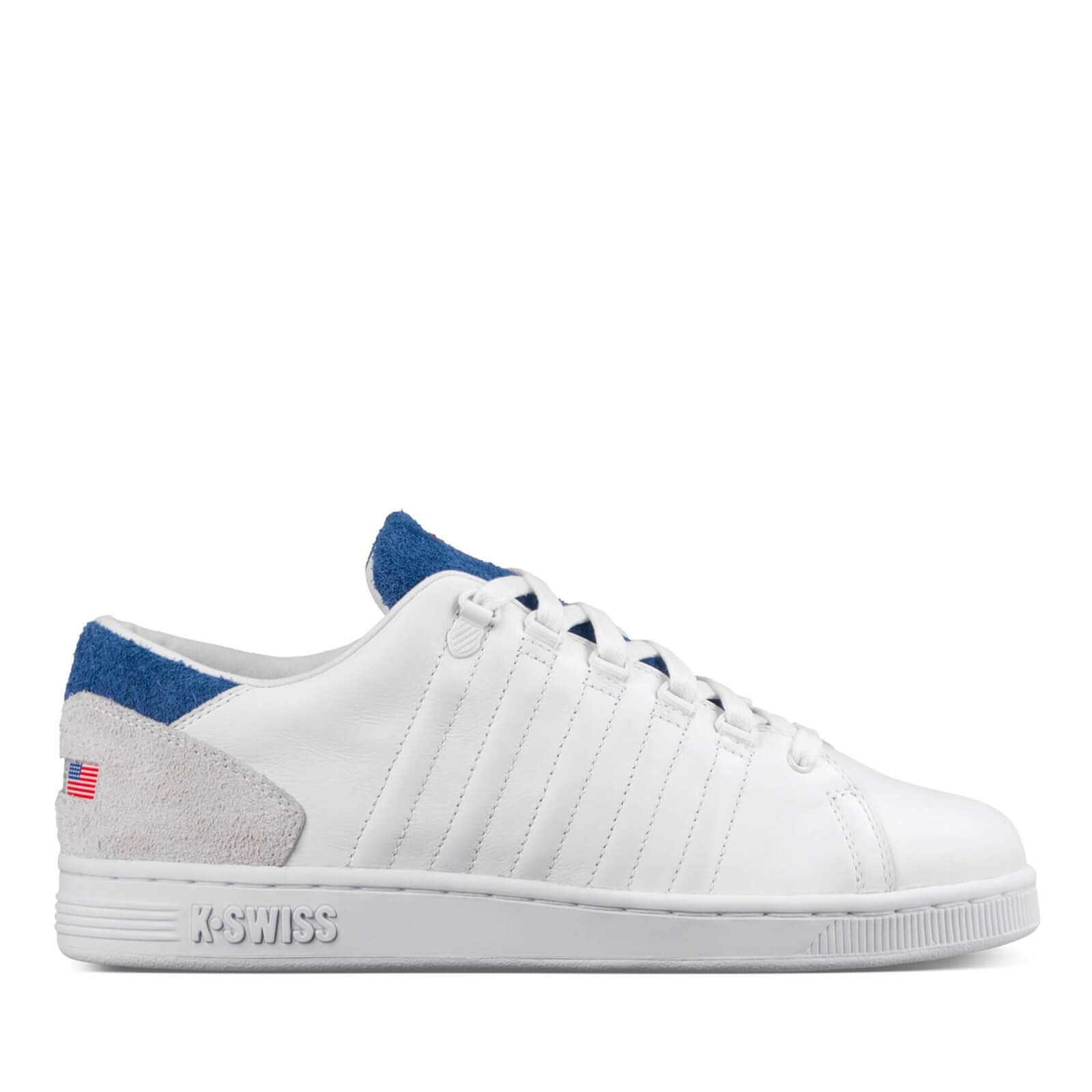 3dac3c44b8aee K-Swiss Men's Lozan III TT Trainers - White/Brunner Blue/Fiery Red