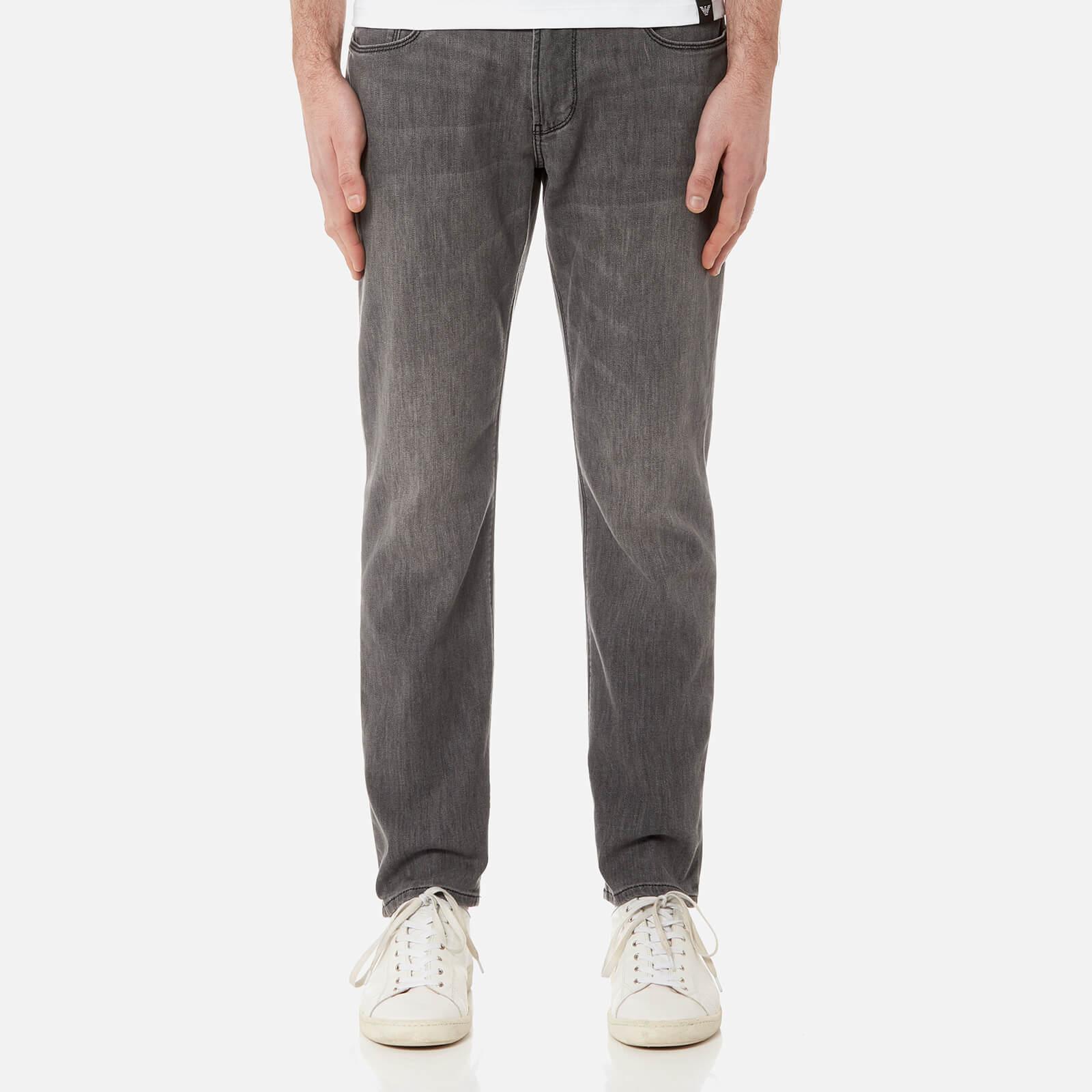d15b7d11e5f7f Emporio Armani Men s J06 5 Pocket Slim Jeans - Washed Black - Free UK  Delivery over £50