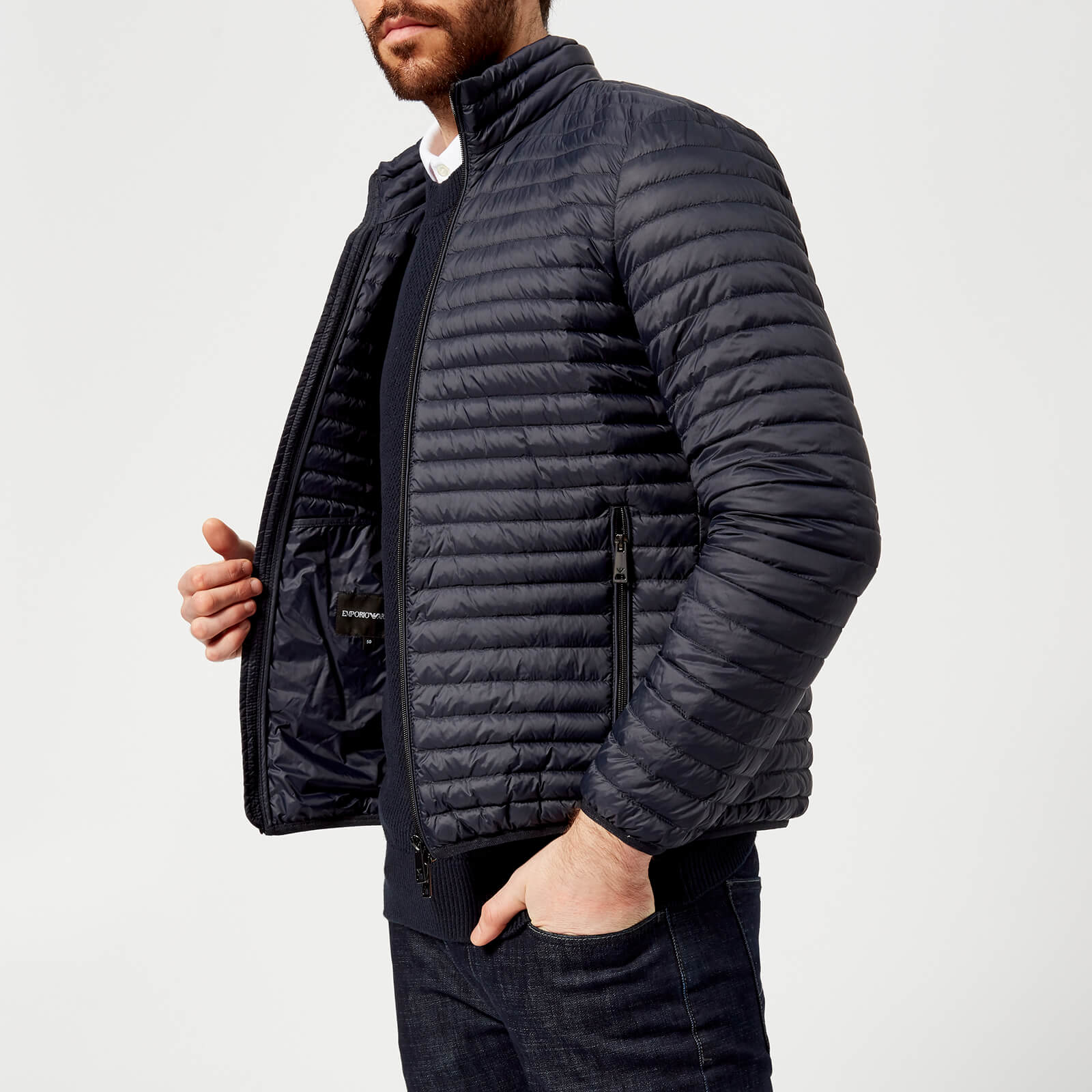 3199d799 Emporio Armani Men's Padded Jacket - Blu