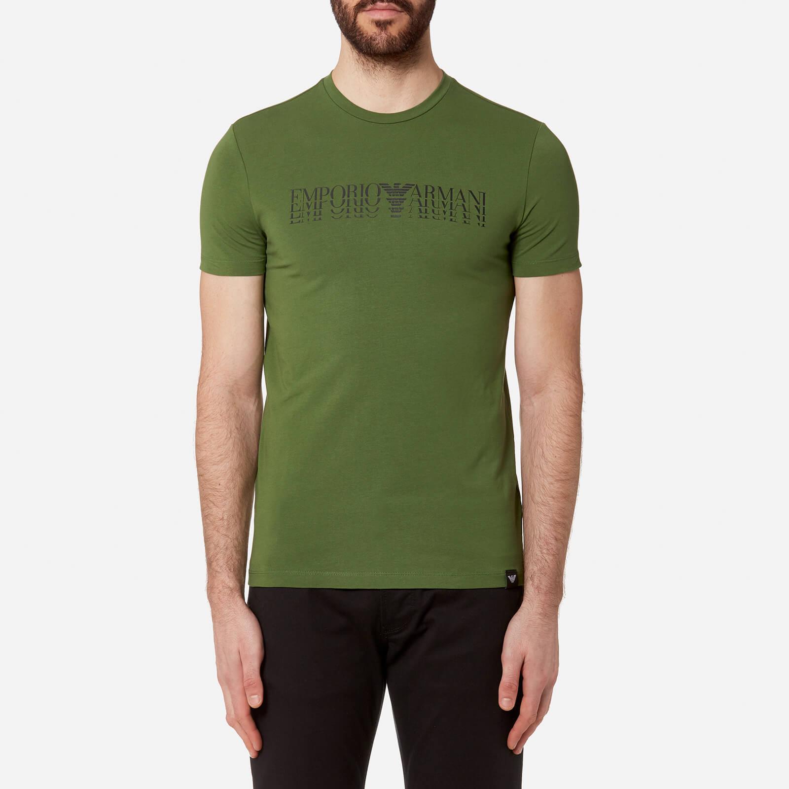 861929cf18 Emporio Armani Men's Shadow Logo T-Shirt - Verde Prato