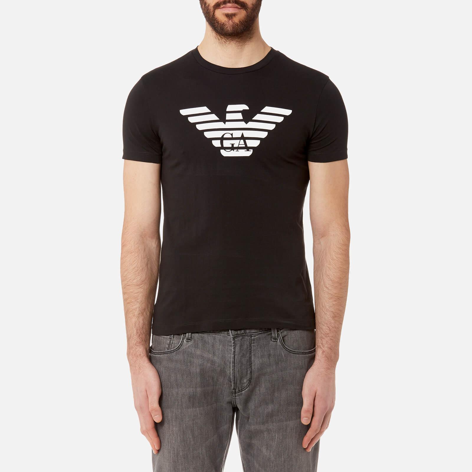 fa3f2146 Emporio Armani Men's Aj Chest Logo T-Shirt - Nero - Free UK Delivery over  £50