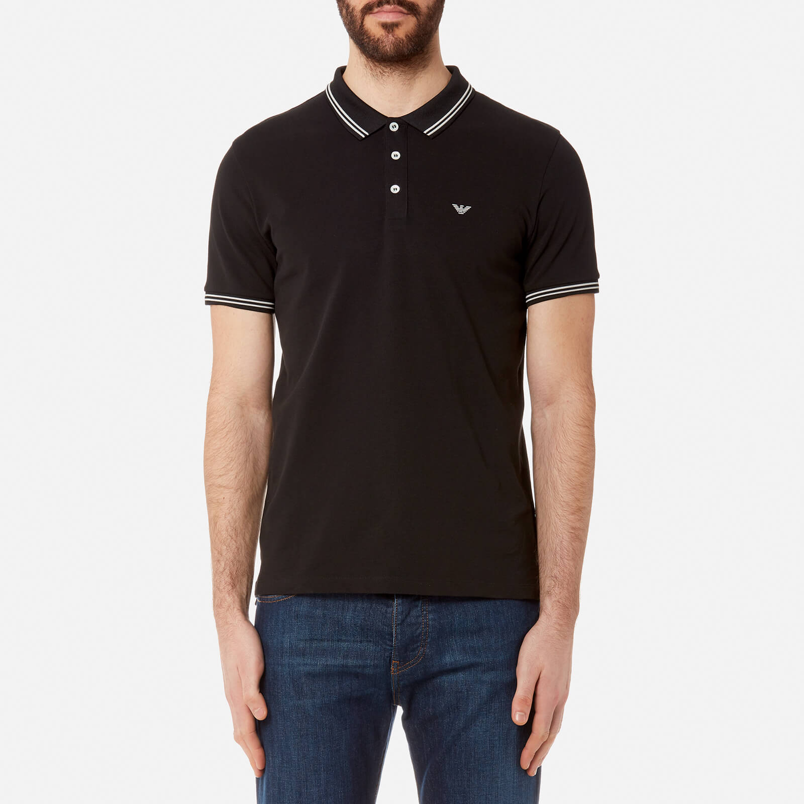 88b7e61844 Emporio Armani Men's Small Logo Polo Shirt - Nero
