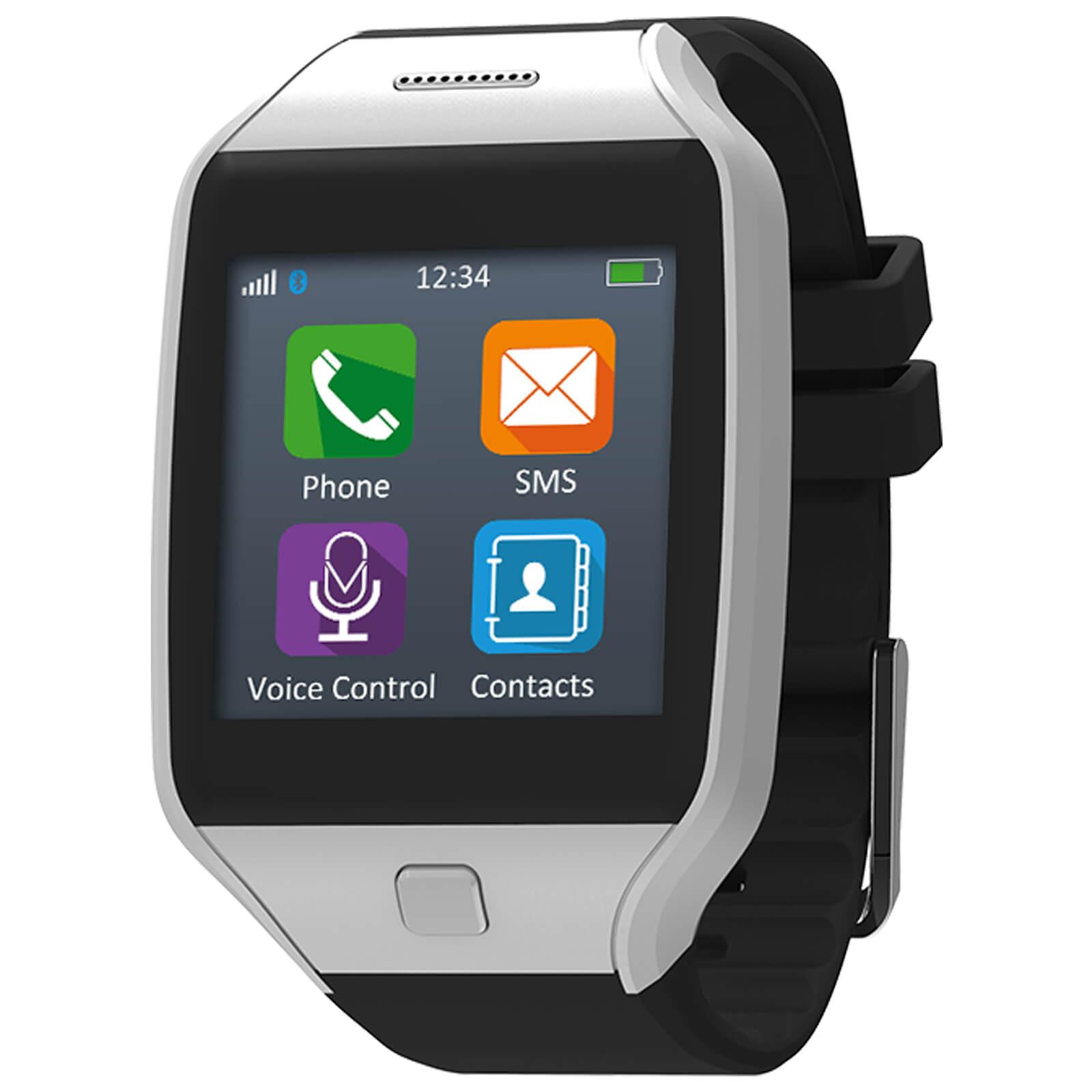 390b1df1b MyKronoz ZeTel 2G Micro-Sim Smart Watch Phone with App (Android   Apple) -  Silver