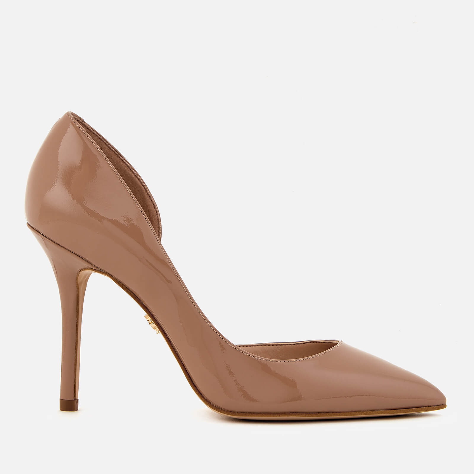 6d80fbc0cf Kurt Geiger London Women's Belgravia Patent Leather Court Shoes - Nude  Clothing | TheHut.com