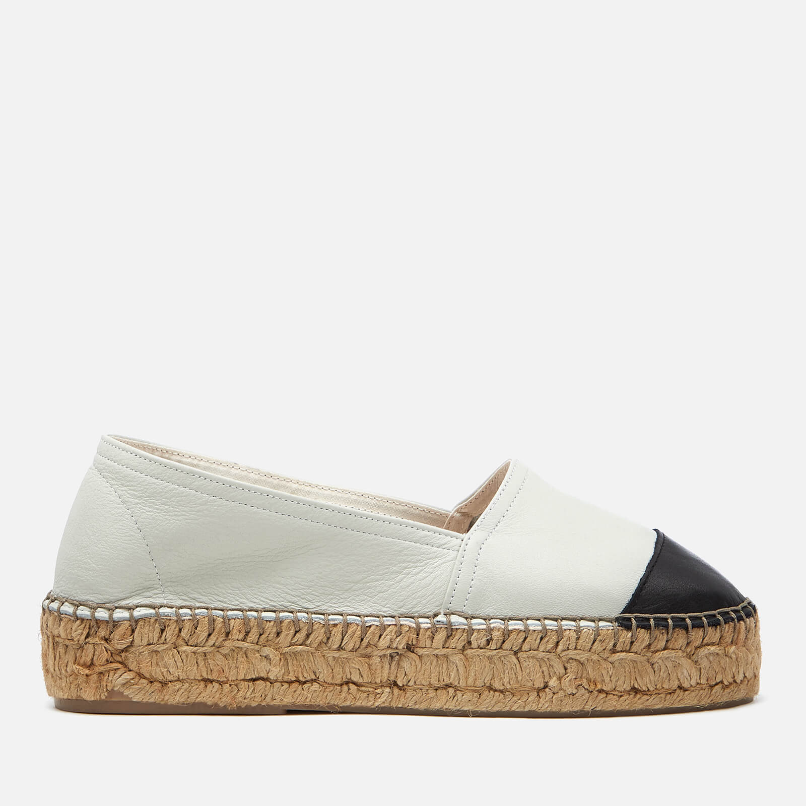 687c0792b00 Kurt Geiger London Women's Mellow Leather Espadrilles - White/Black
