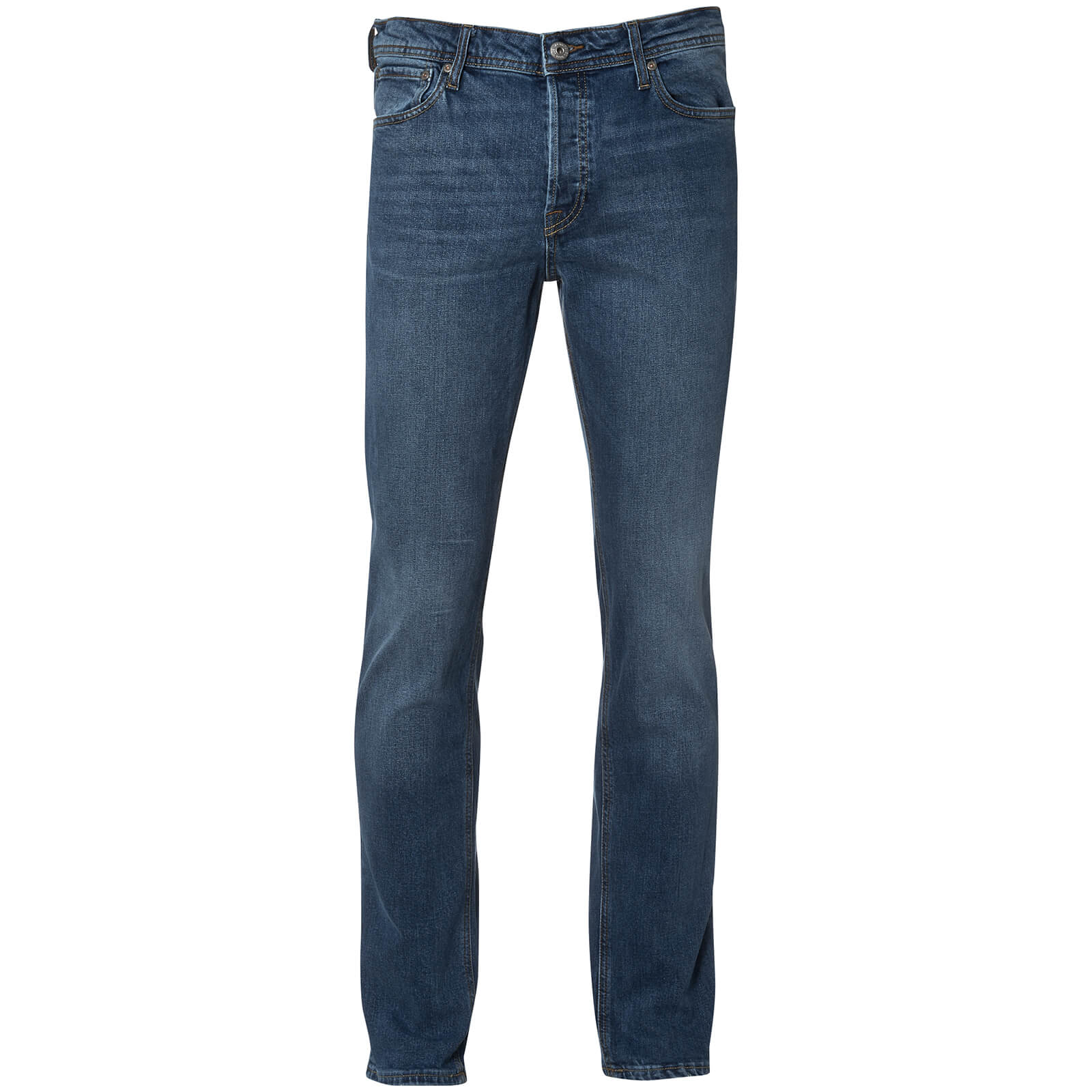 Mens Designer style Smith /& Jones Cotton Mid Blue Denims Regular Fit New FURIO