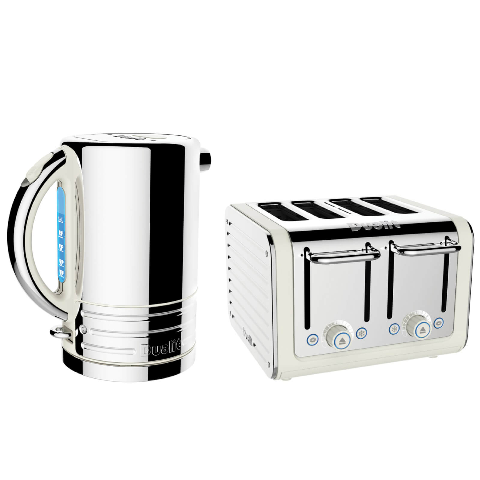4711bad8275a Dualit Architect Kettle and 4 Slot Toaster Bundle - Canvas | IWOOT